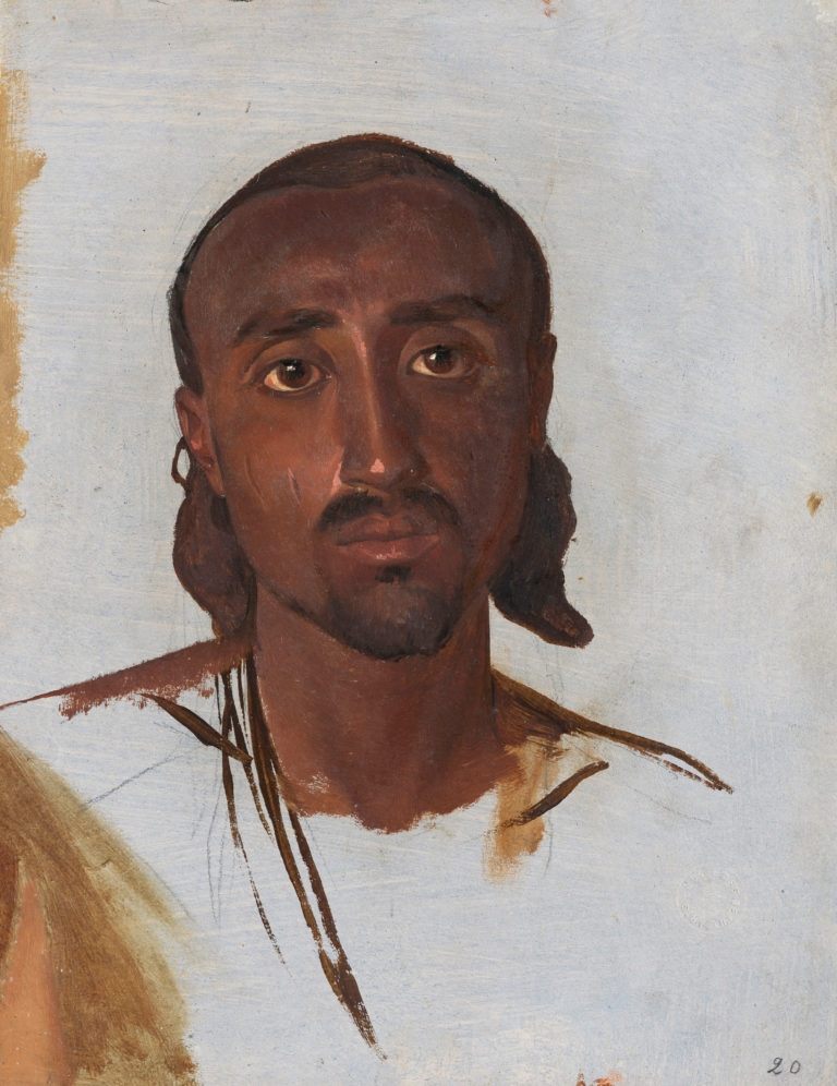 Charles Gleyre, Etude d'un Nubien (Study of a Nubian), between 1835 and 1837