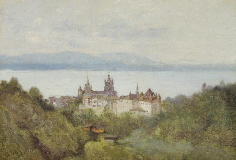 Jean-Baptiste Camille Corot, Lausanne et le lac Léman (Lausanne and Lake Geneva), <br>juillet 1842
