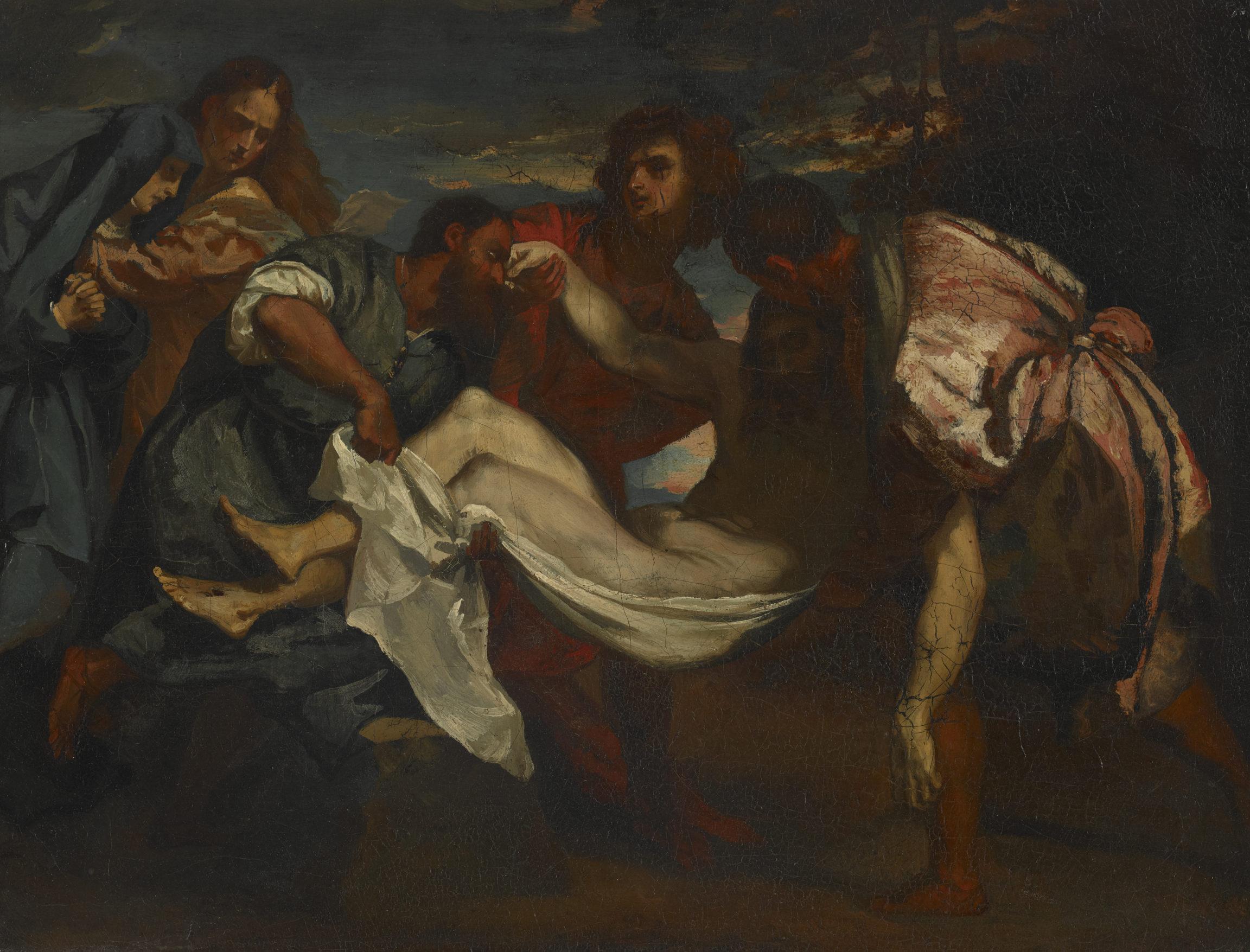 Théodore Géricault, d'après Titien , La Mise au tombeau (The Entombment), vers 1810 - 1812