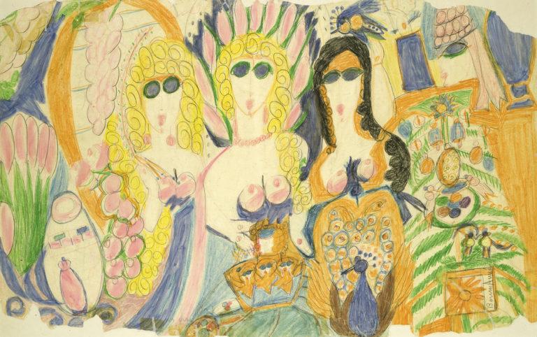 Aloïse (Aloïse Corbaz, dite) , Bonne année, entre 1950 et 1960