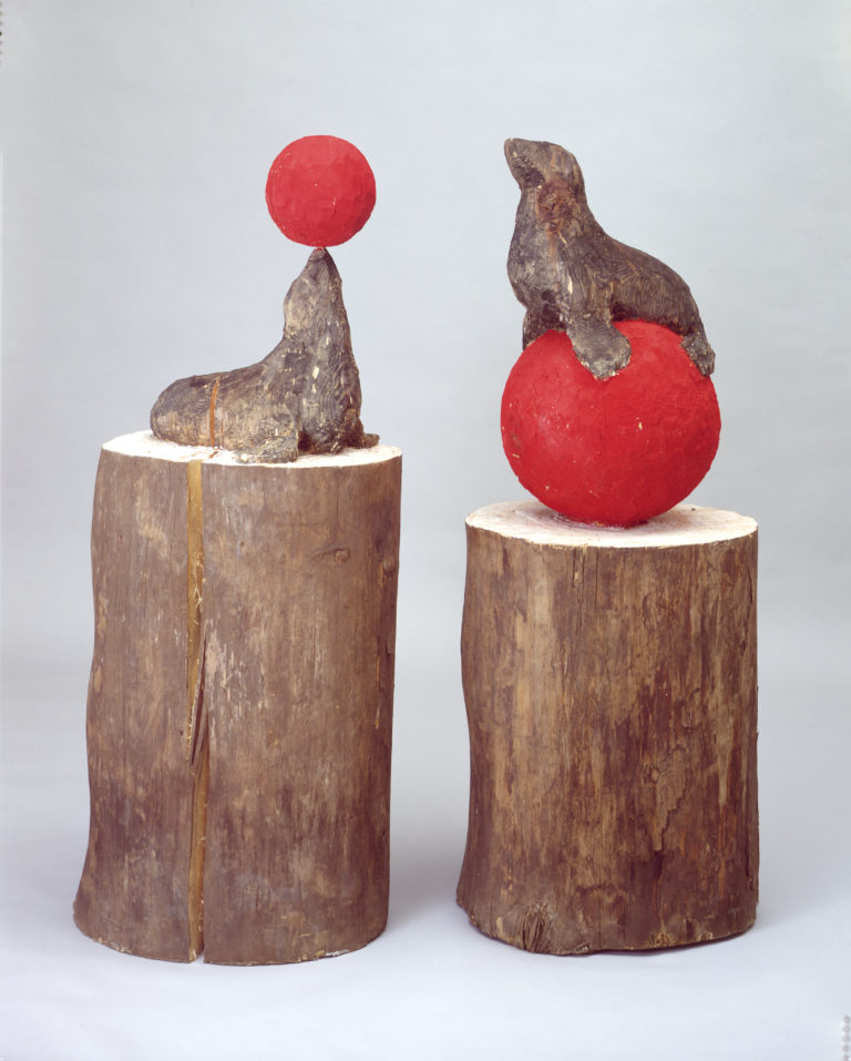 Stephan Balkenhol , Phoque I et II (Seal I and II), 1989
