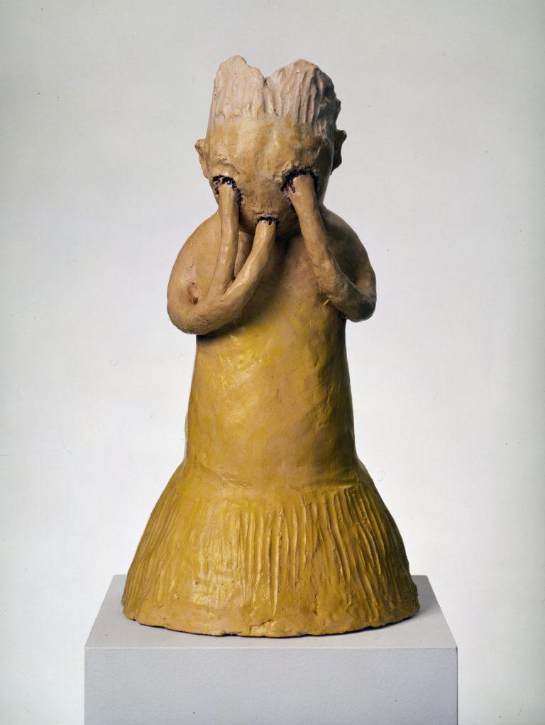 Leiko Ikemura, Gelbe Figur mit drei Armen (Figure jaune à trois bras), 1996