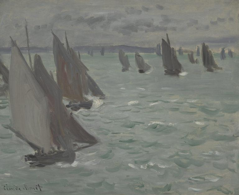 Claude Monet, Voiliers en mer, 1868