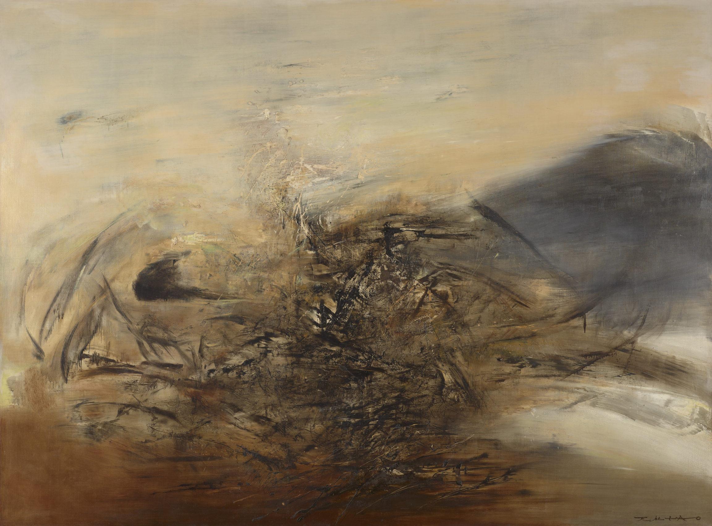 Zao Wou-Ki, Hommage à Edgar Varèse – 15.10.64, 1964