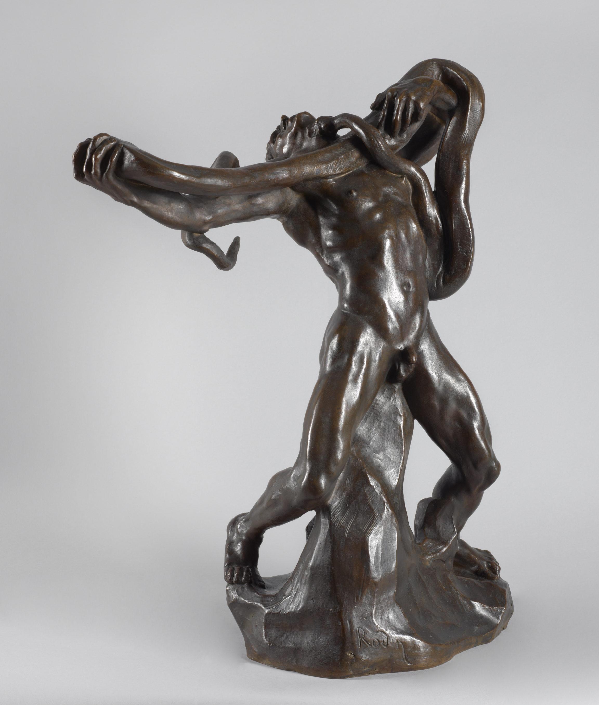 Auguste Rodin, L'Homme au serpent, 1887