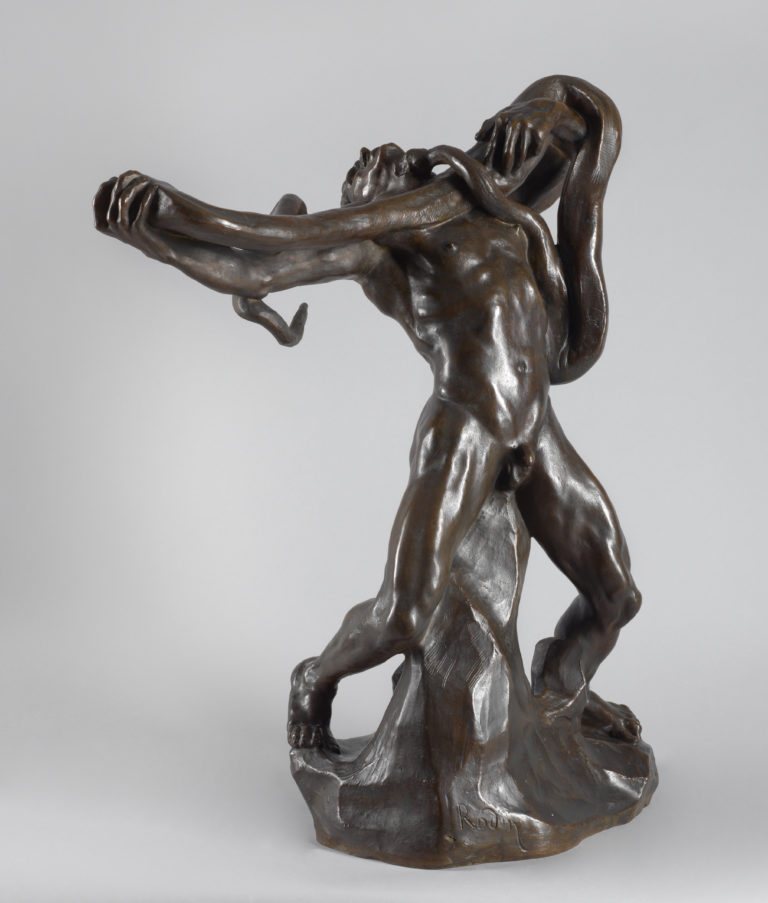 Auguste Rodin, L'Homme au serpent (Man with Snake), 1887