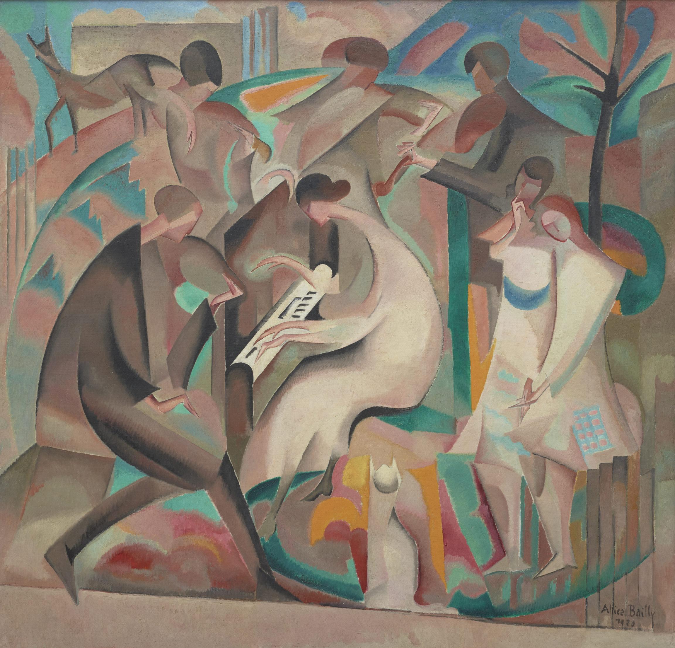 Alice Bailly, Le concert dans le jardin, 1920