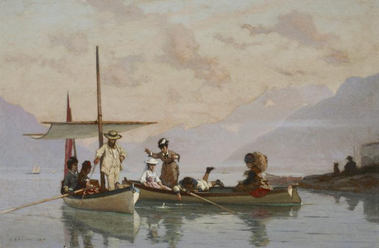 François Bocion, Bocion et sa famille à la pêche, 1877