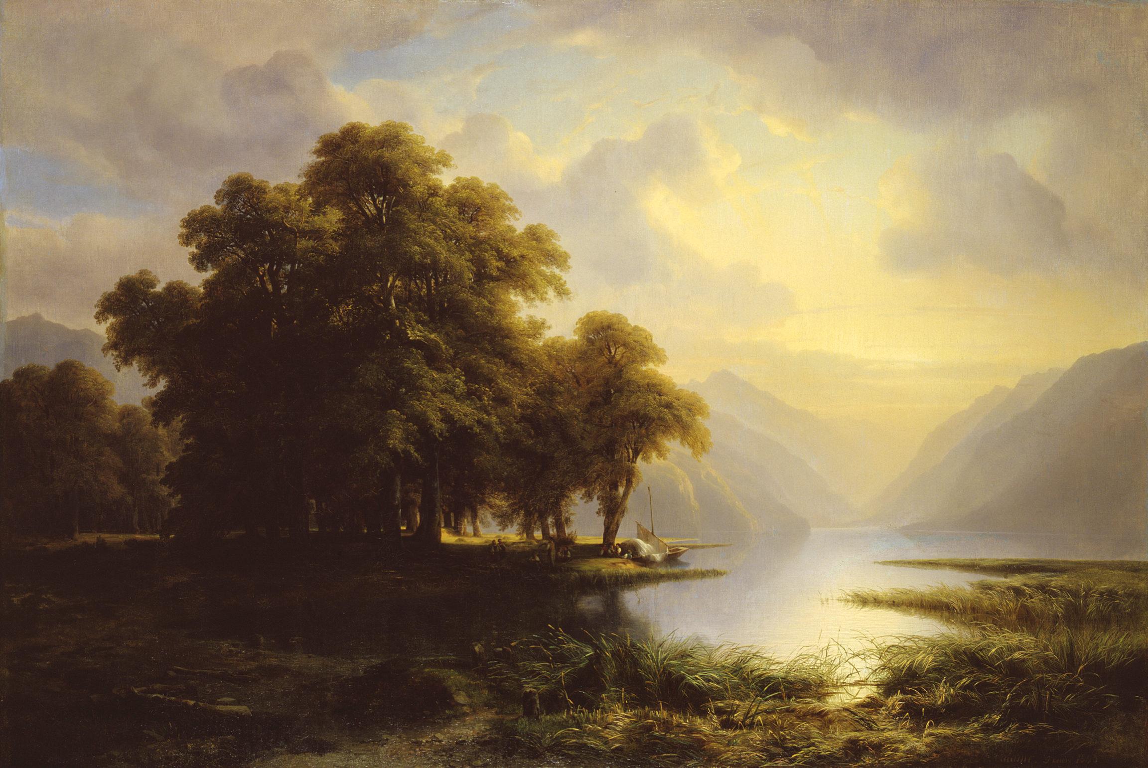 Alexandre Calame, Le lac de Brienz, 1843