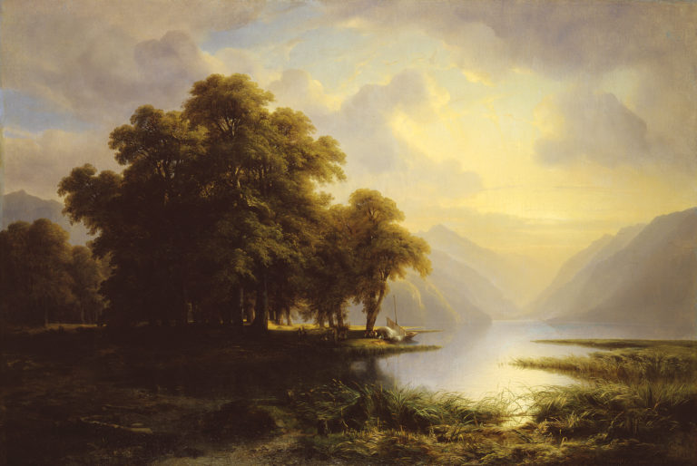 Alexandre Calame, Le lac de Brienz (Lake Brienz), 1843