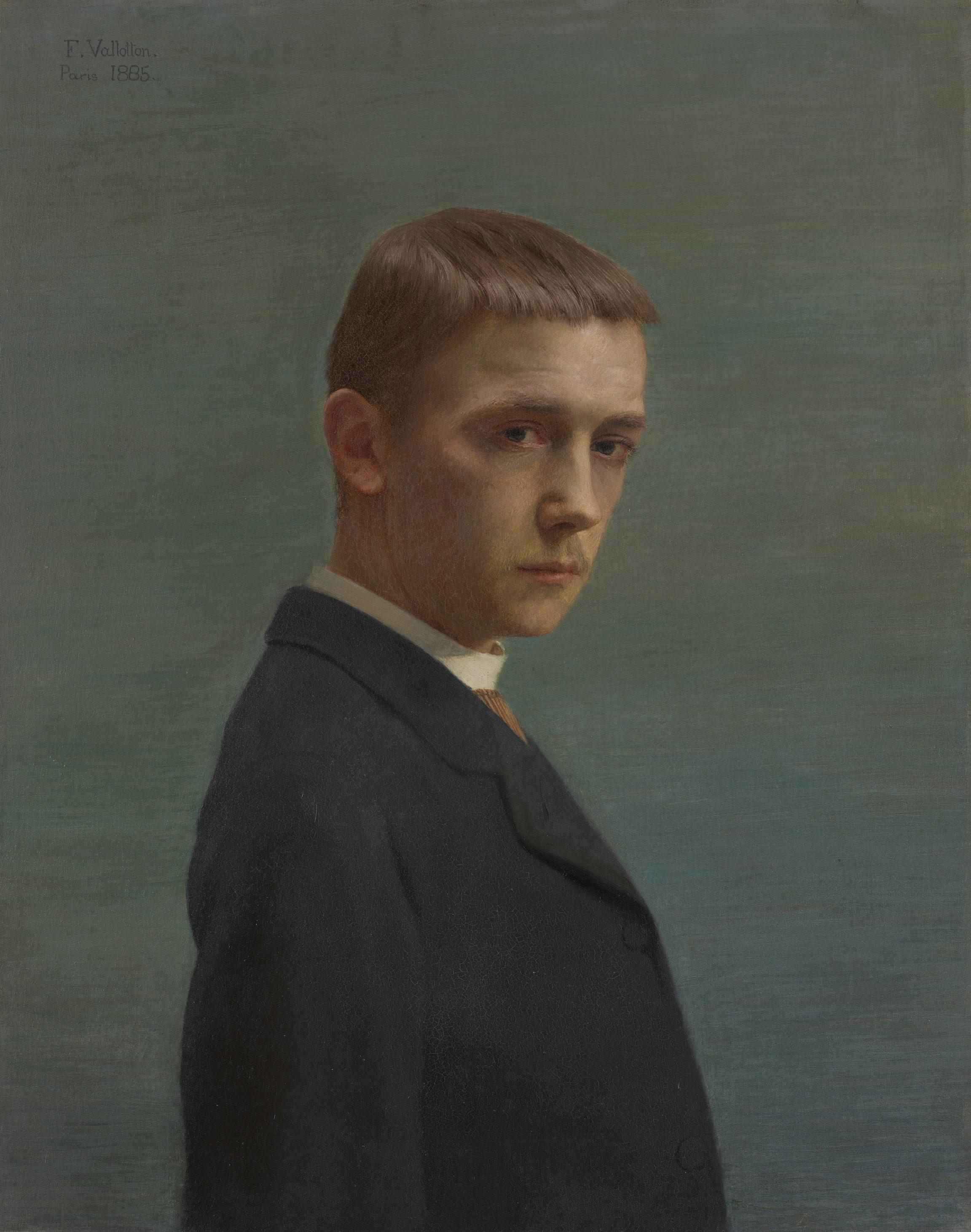 Félix Vallotton, Autoportrait à l'âge de vingt ans, 1885