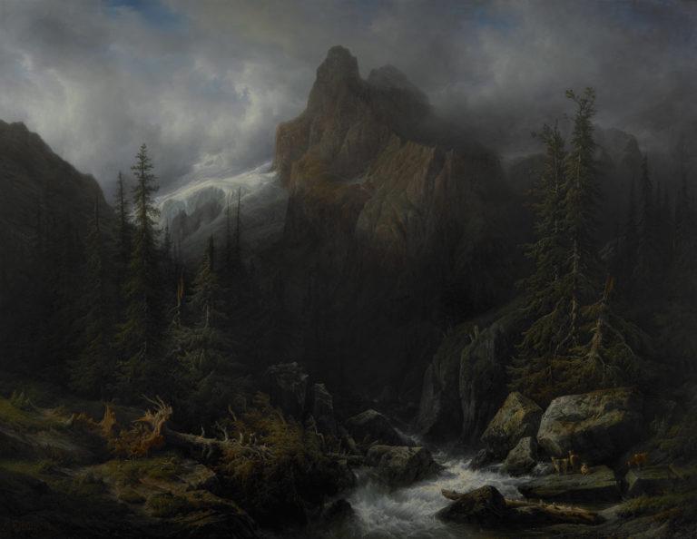 François Diday , Le glacier du Rosenlaui, 1841