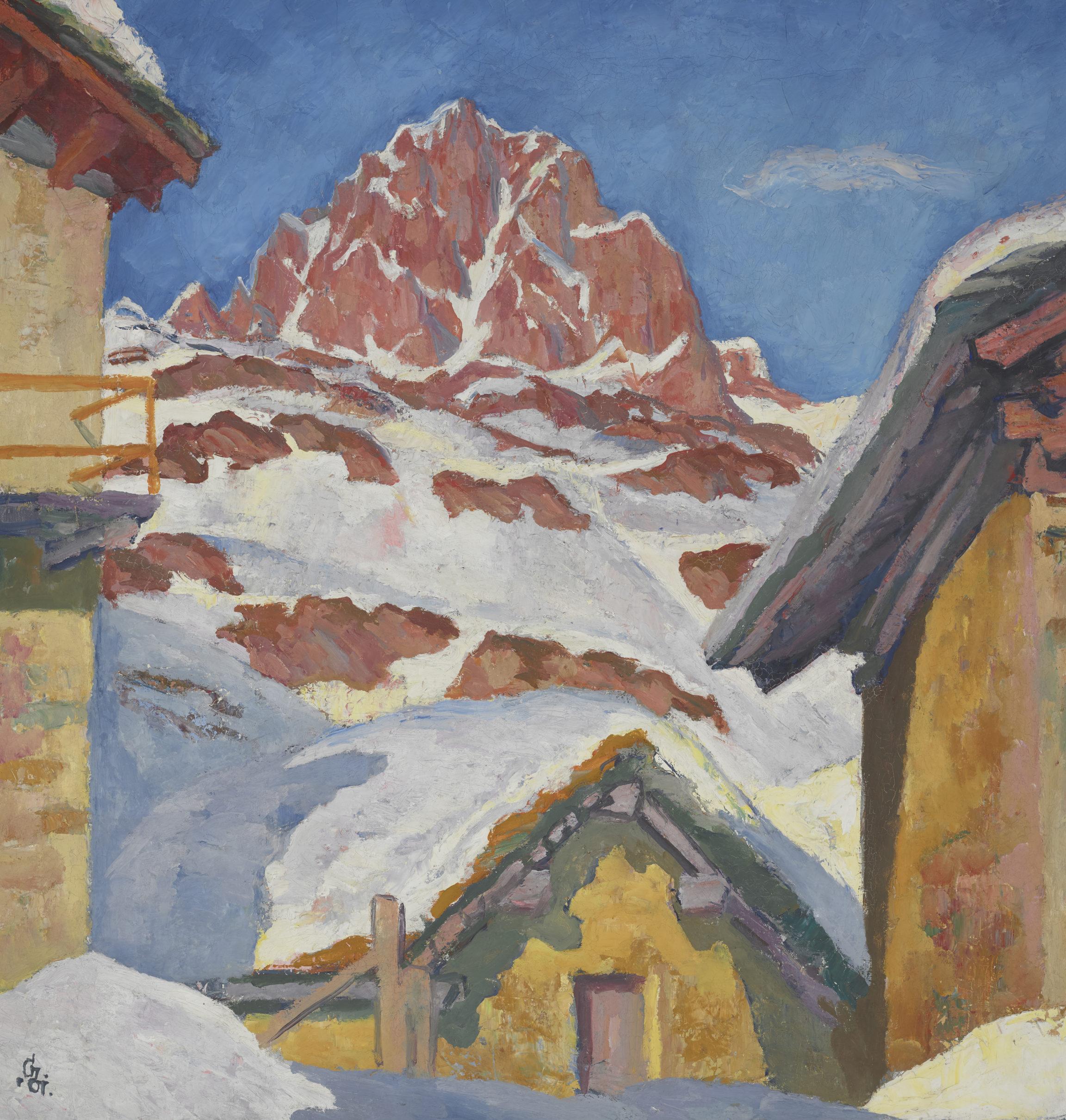 Giovanni Giacometti, Maloja en hiver ou Piz Lagrev, 1929
