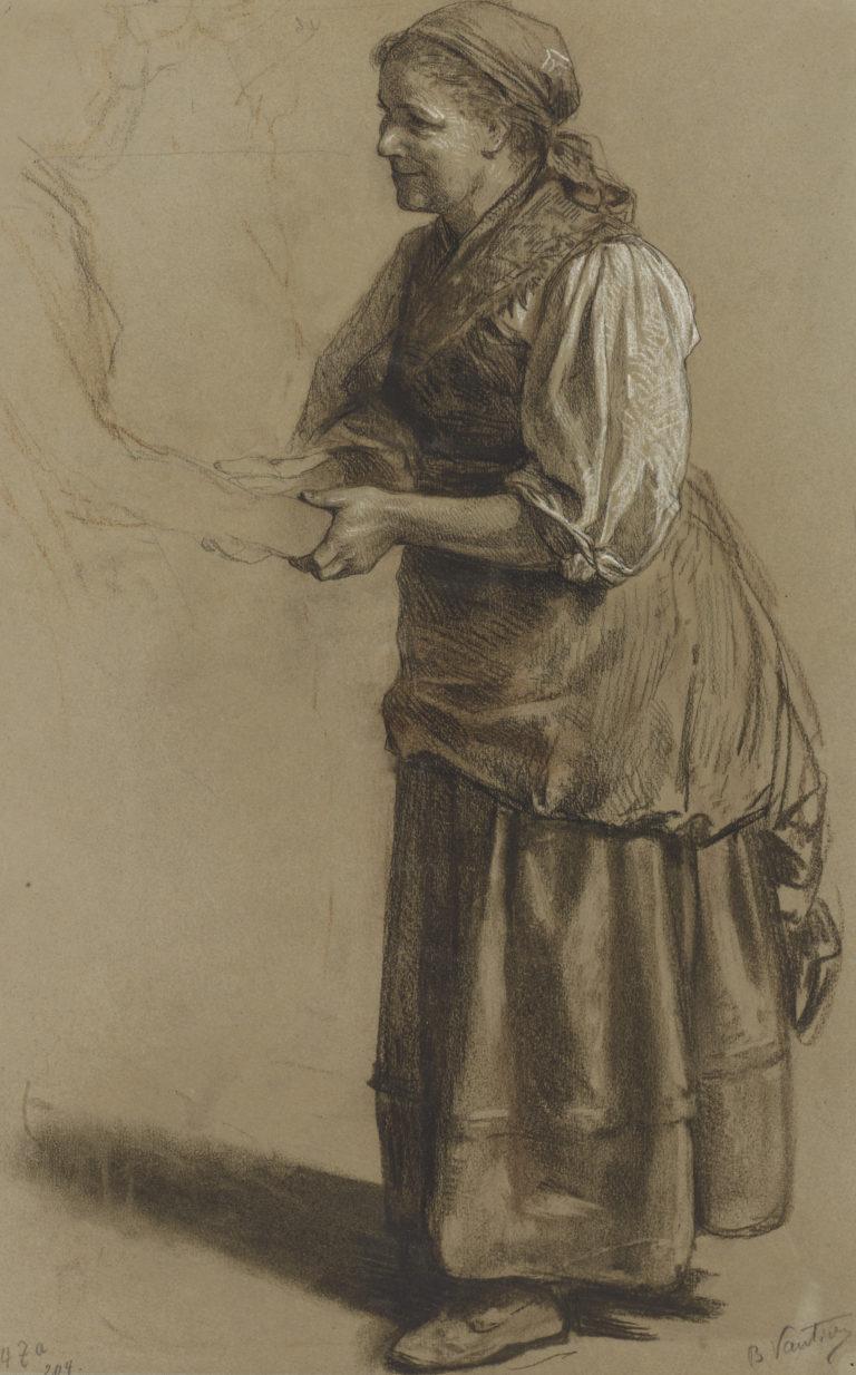 Marc Louis Benjamin Vautier (L'Aîné) , Étude pour le Retour des jeunes mariés, 1881