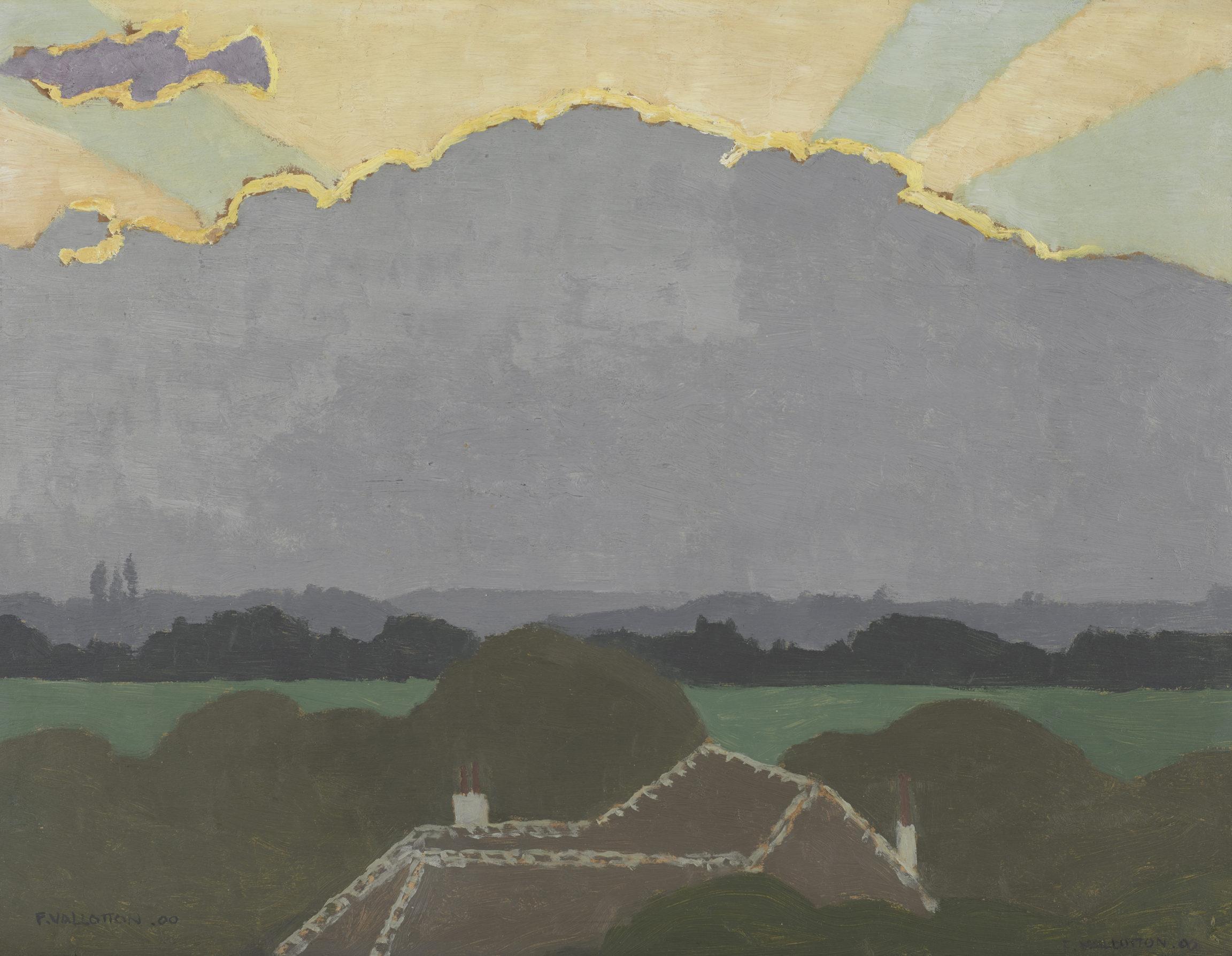 Félix Vallotton, Le grand nuage, 1900