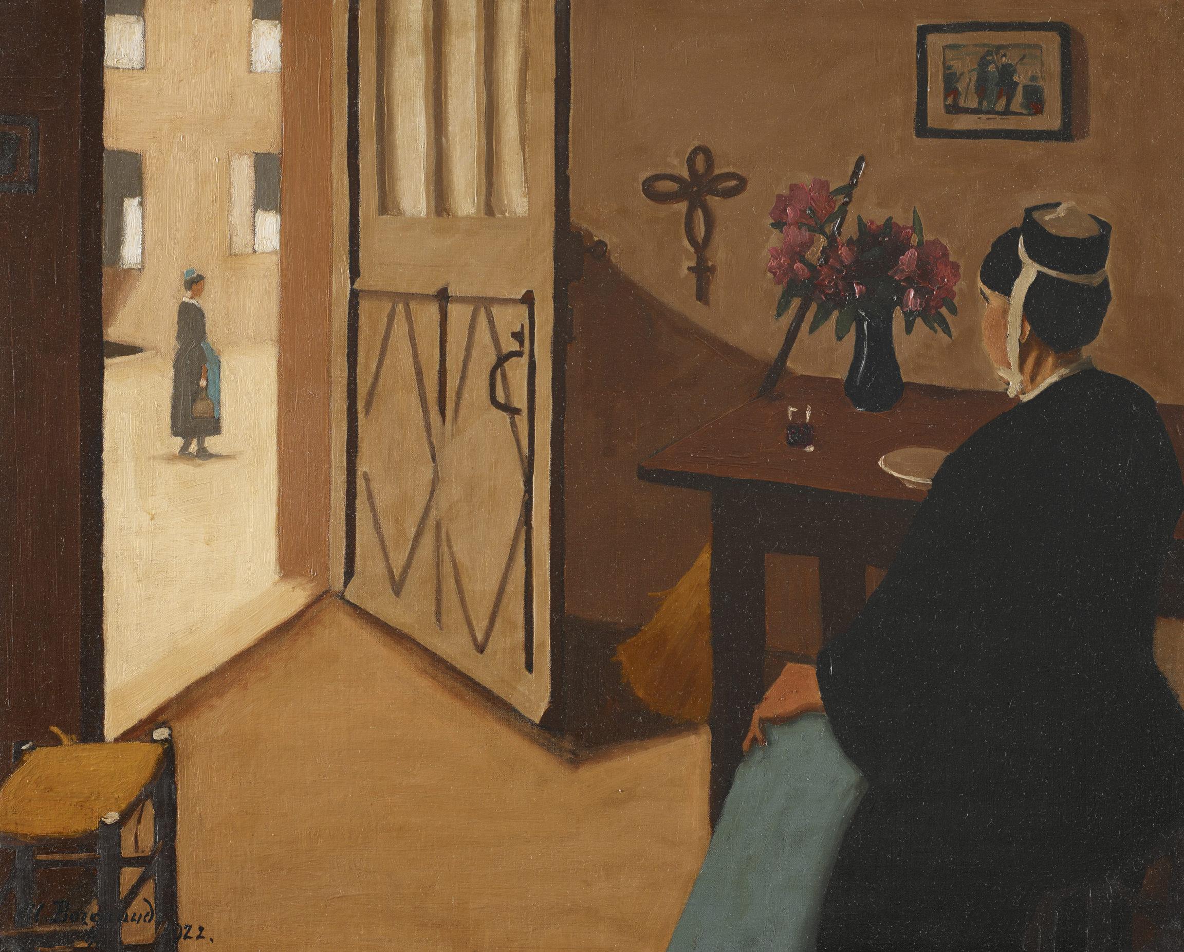 Marius Borgeaud , La Bretonne qui passe (Breton Woman Passing By), 1922