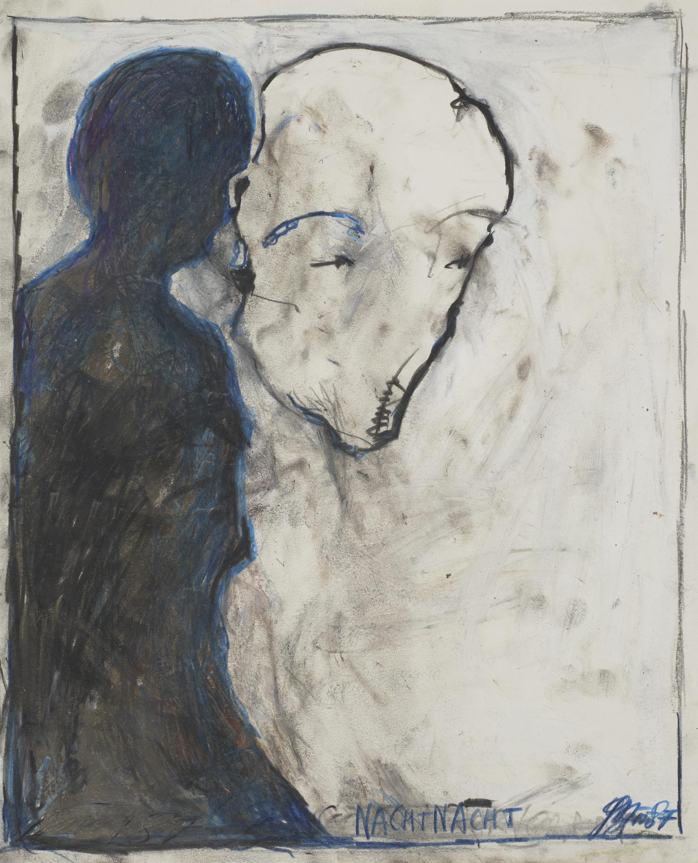 Günter Brus , Nachtnacht, 1987