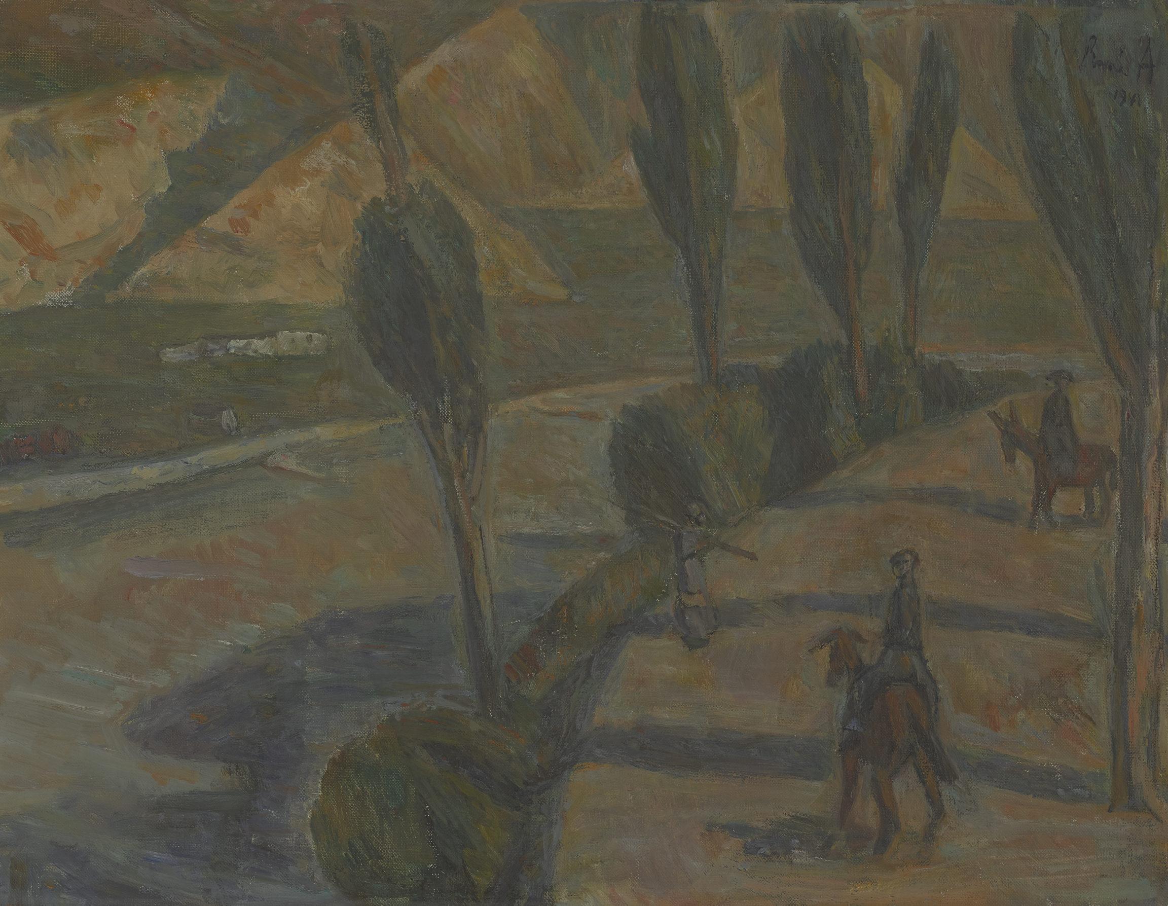 René Auberjonois , La route valaisanne, 1940 - 1941