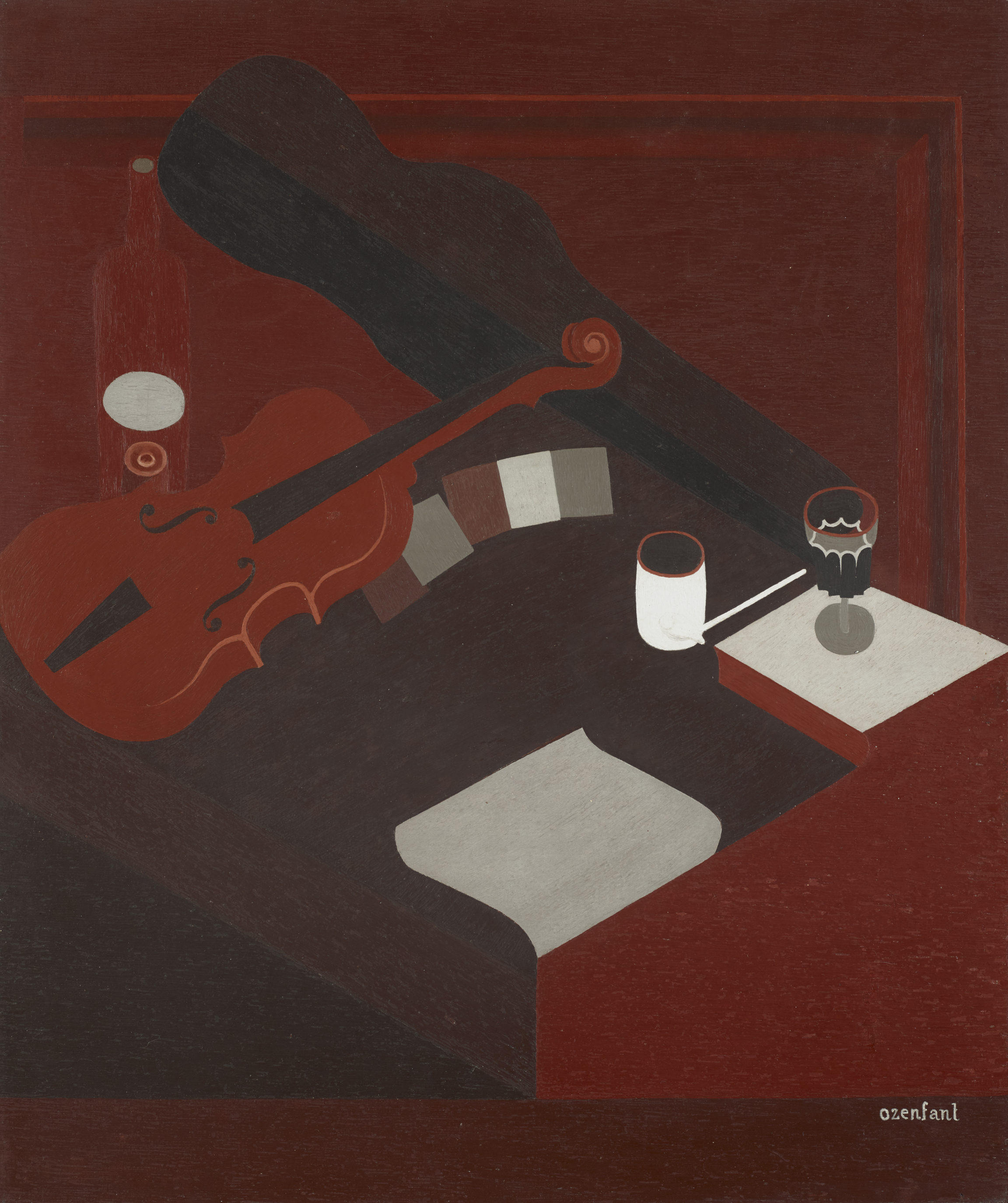 Amédée Ozenfant, Le violon rouge (The Red Violin), 1919 - 1929