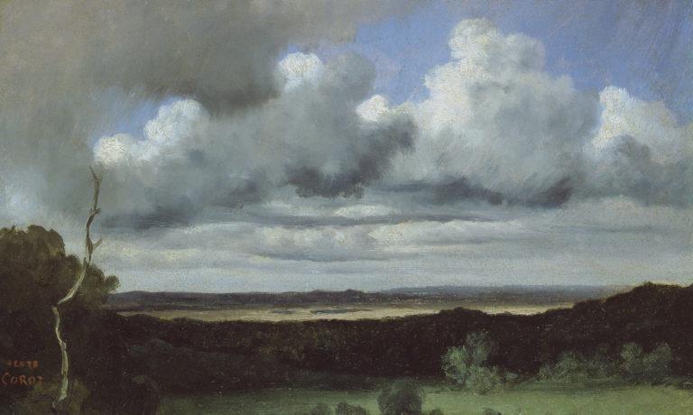 Jean-Baptiste Camille Corot, Fontainebleau – Orage sur les plaines, 1822