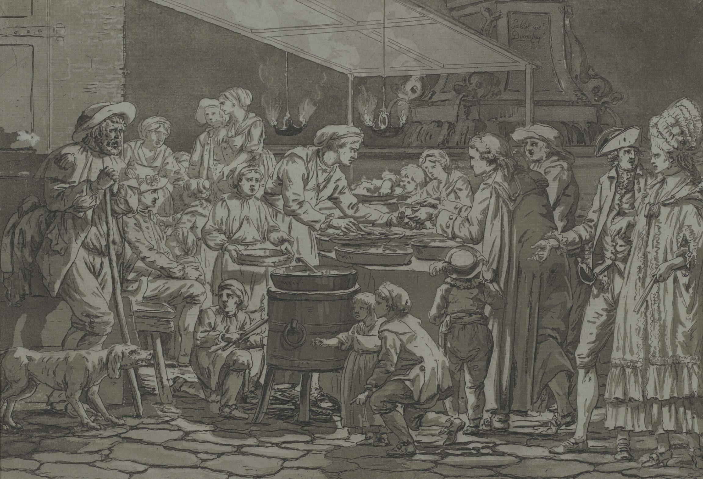 Louis Ducros, Le marchand de fritures, 1782