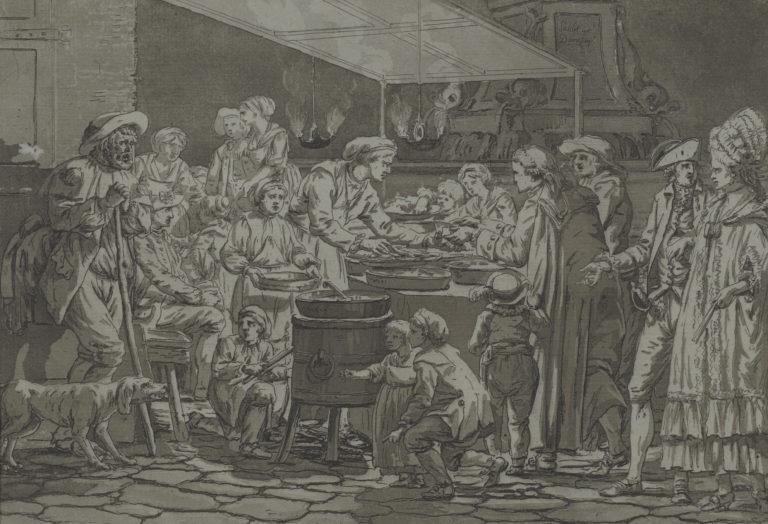 Louis Ducros, Le marchand de fritures (The Fried Food Vendor), 1782