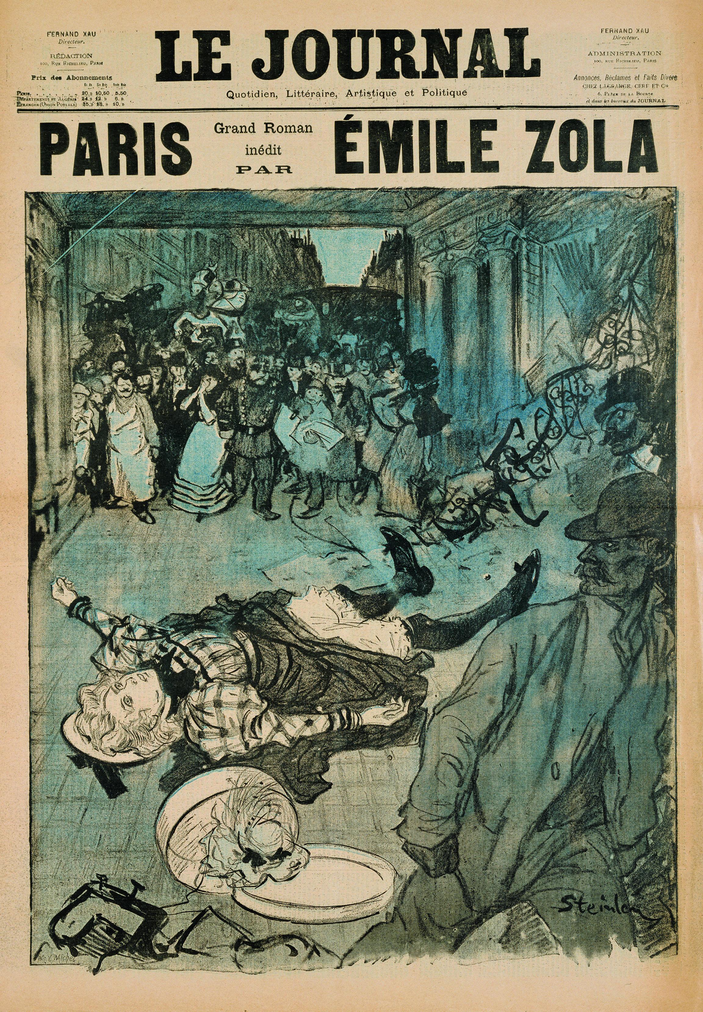 Théophile-Alexandre Steinlen, Paris. Grand roman inédit par Émile Zola. Supplément gratuit du « Journal », 1897