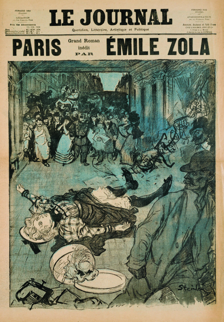 Théophile-Alexandre Steinlen, Paris. Grand roman inédit par Émile Zola. Supplément gratuit du Journal (Paris. Brand new novel by Émile Zola. Free supplement for Le Journal), 1897