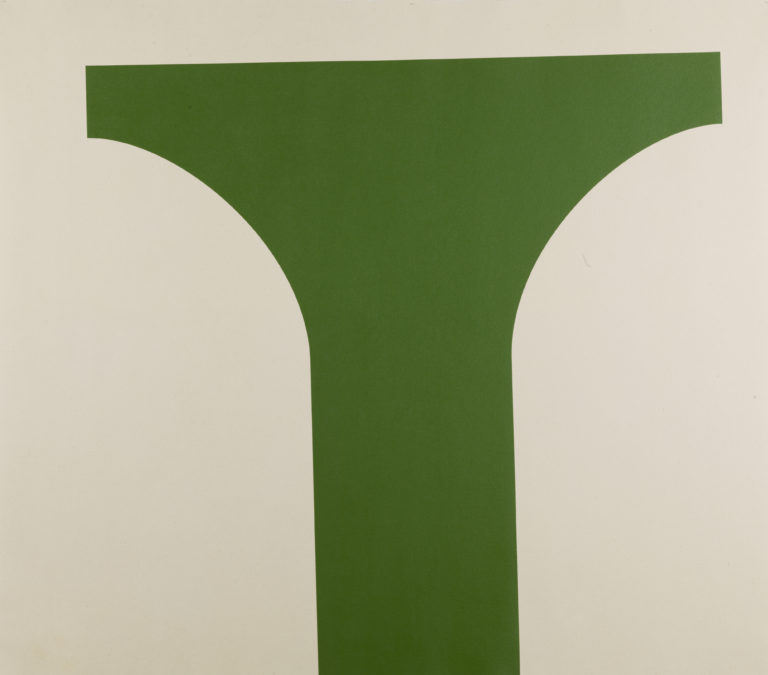Christoph Gossweiler, Peinture, vert olive, 2008