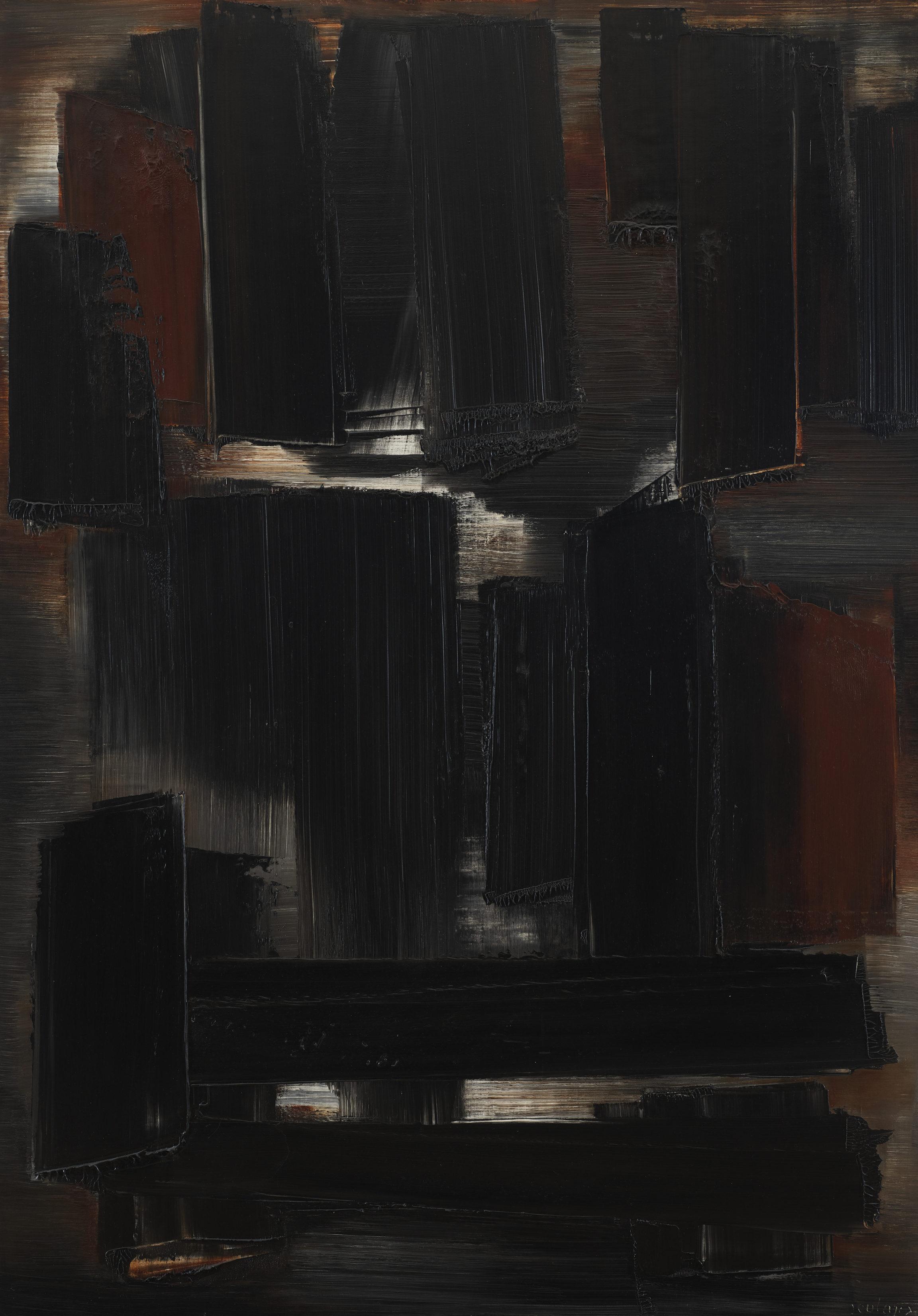 Pierre Soulages, Peinture (Painting), 1956