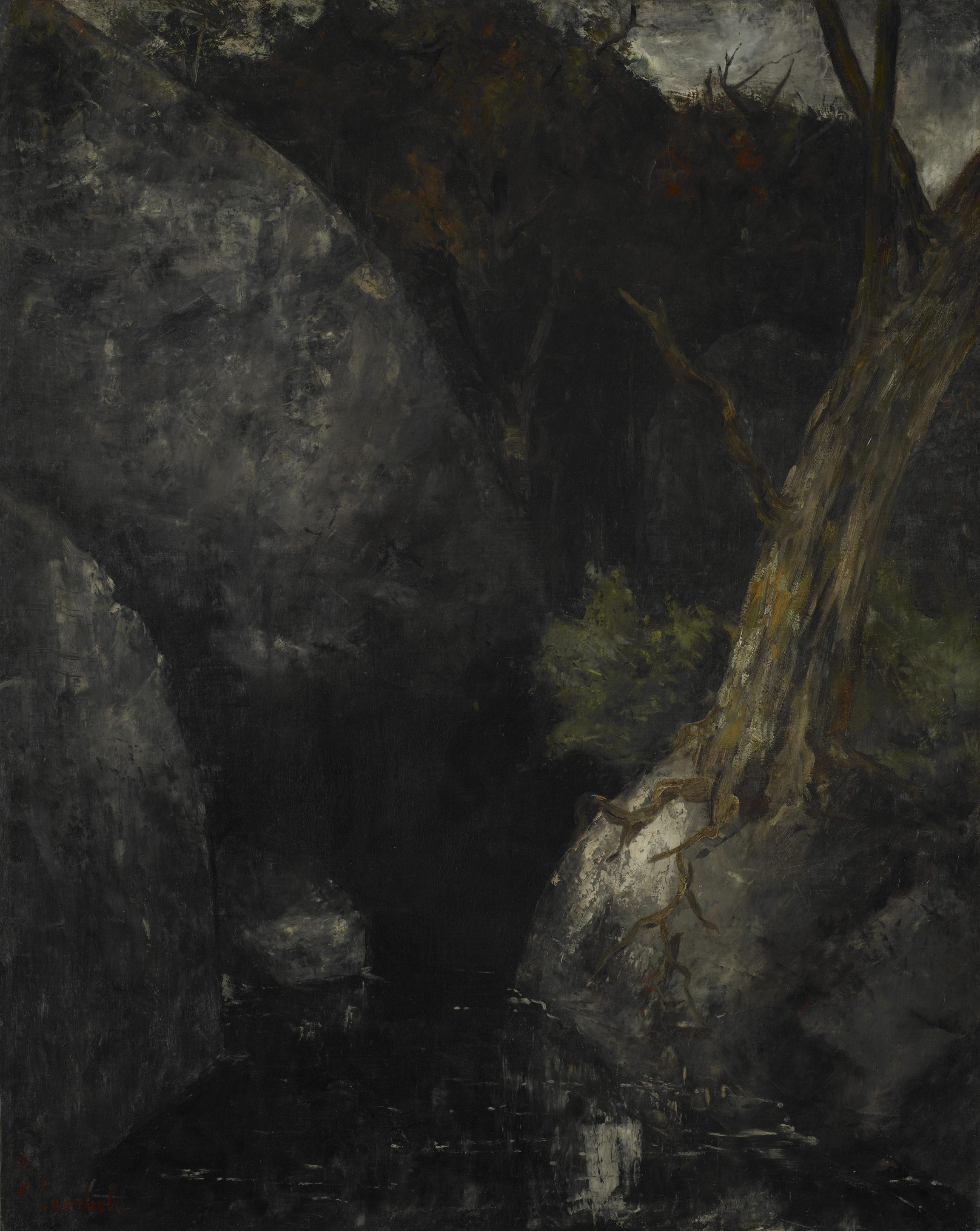 Gustave Courbet, Le vieil arbre dans la gorge, 1871