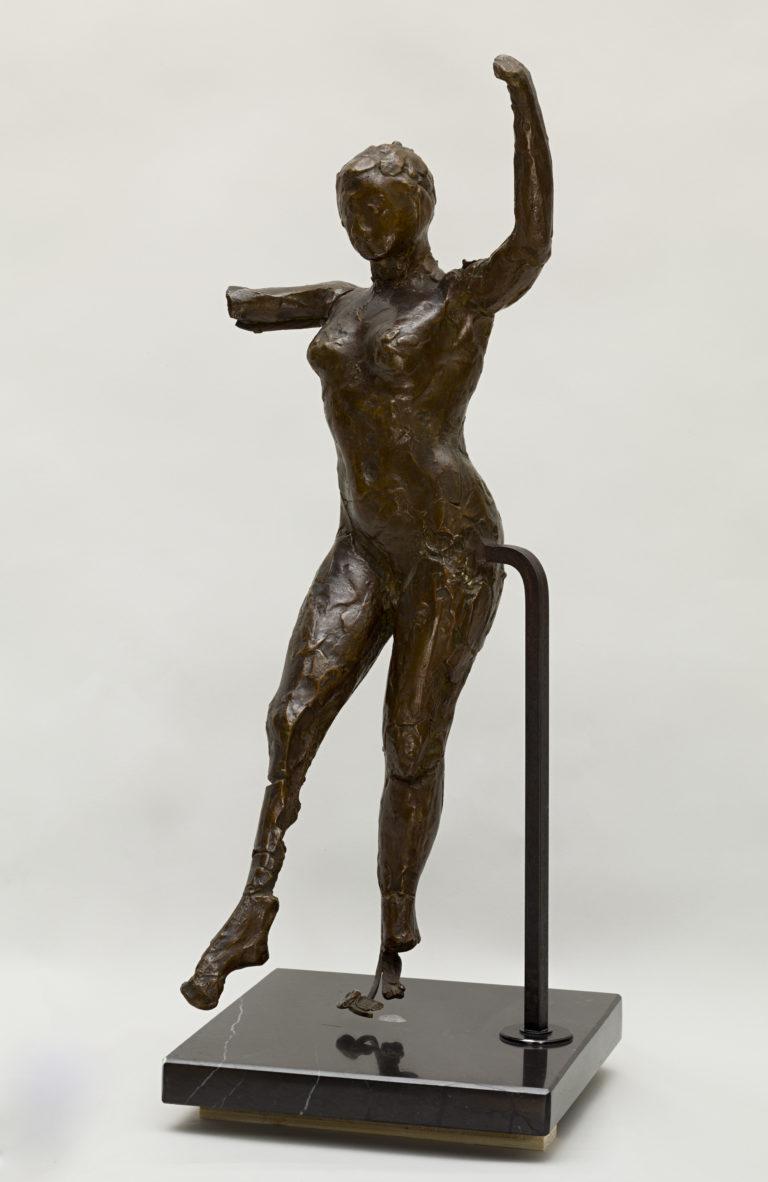 Edgar Degas, Danseuse s'avançant, les bras levés, jambe droite en avant (deuxième étude), vers 1885-1890