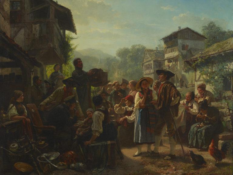 Marc Louis Benjamin Vautier (L'Aîné) , Une vente aux enchères dans l'Oberland bernois, 1856