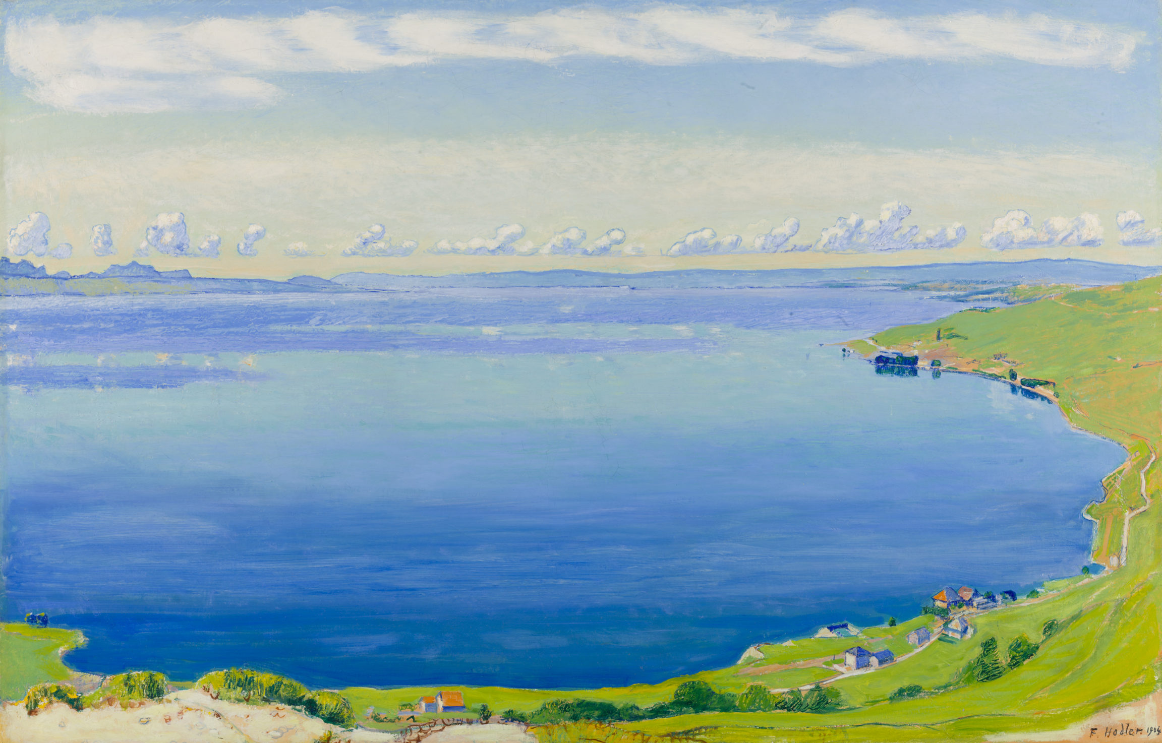 Ferdinand Hodler, Le lac Léman vu de Chexbres, 1904