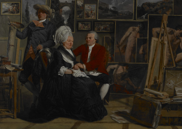Jacques Sablet, Le peintre dans son atelier avec ses parents (The Painter in his Studio with his Parents), 1781