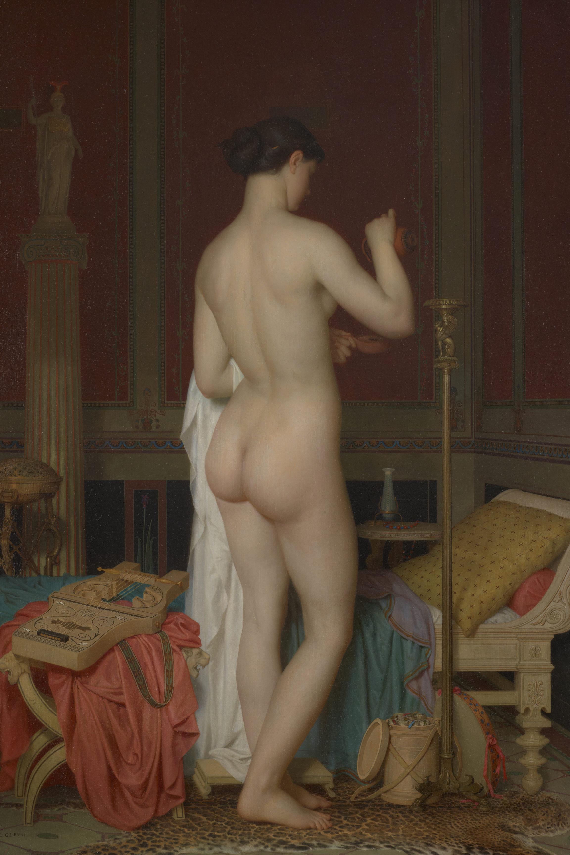Charles Gleyre, Le coucher de Sapho (Jeune fille dans un intérieur pompéien), 1867