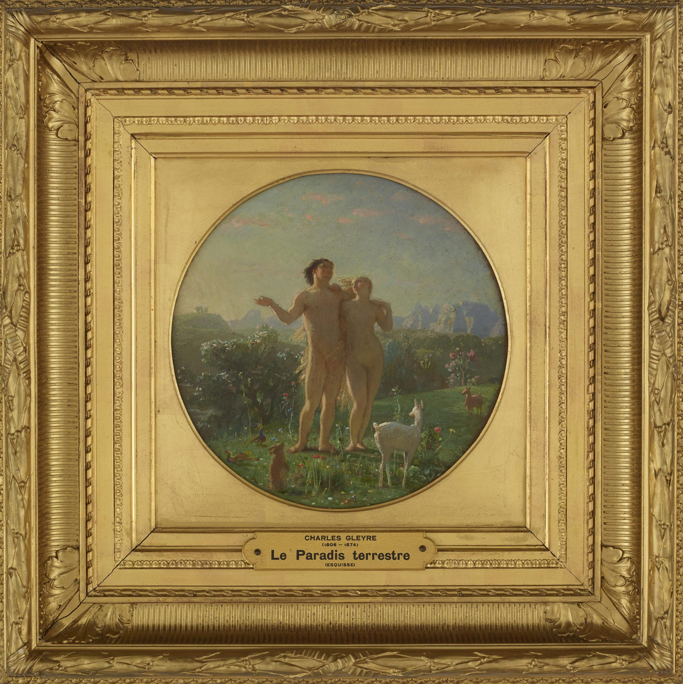 Charles Gleyre, Esquisse pour Le paradis terrestre ou Le matin, entre 1869 et 1874