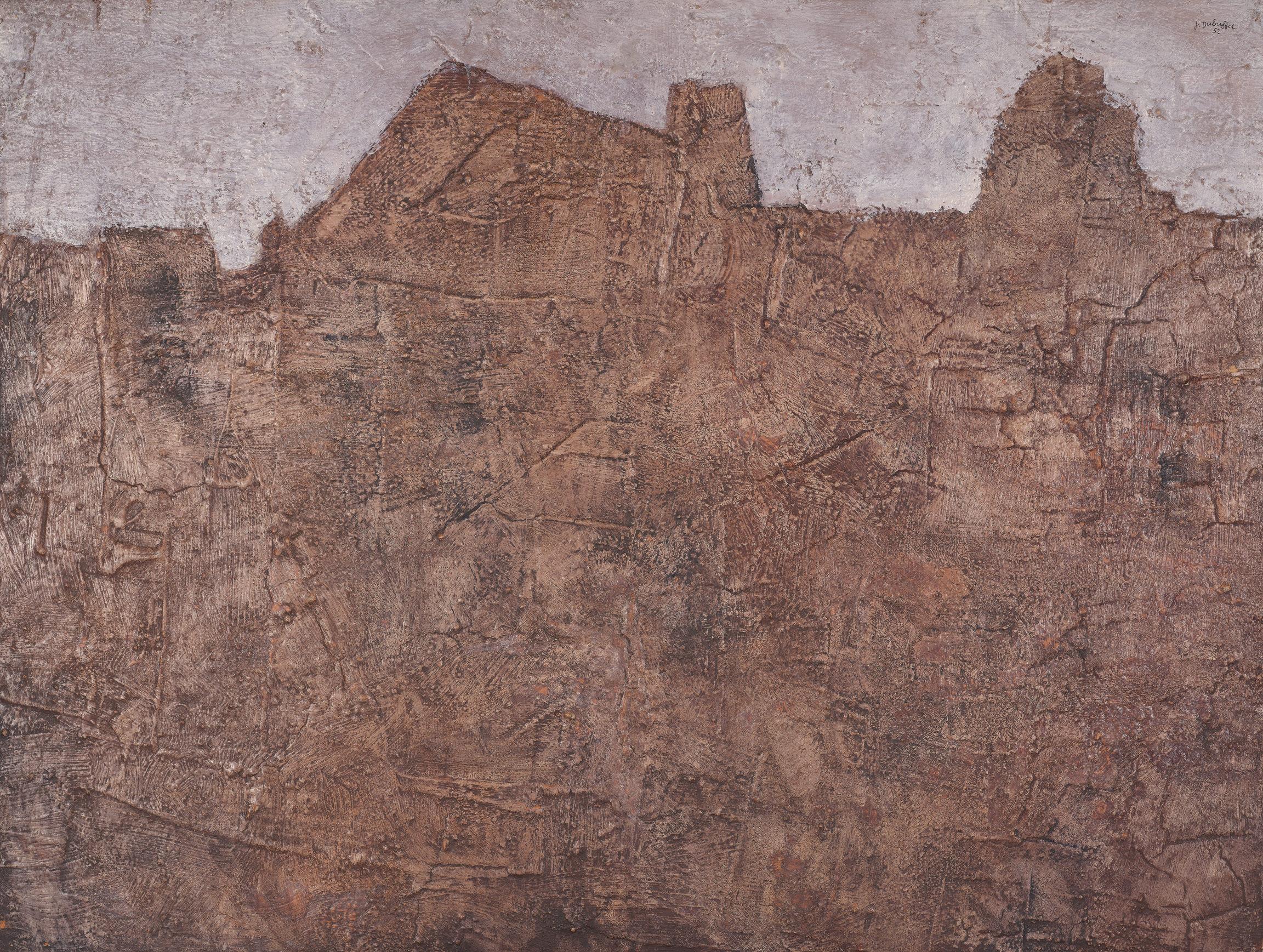 Jean Dubuffet, Paysage aux murailles, 1952
