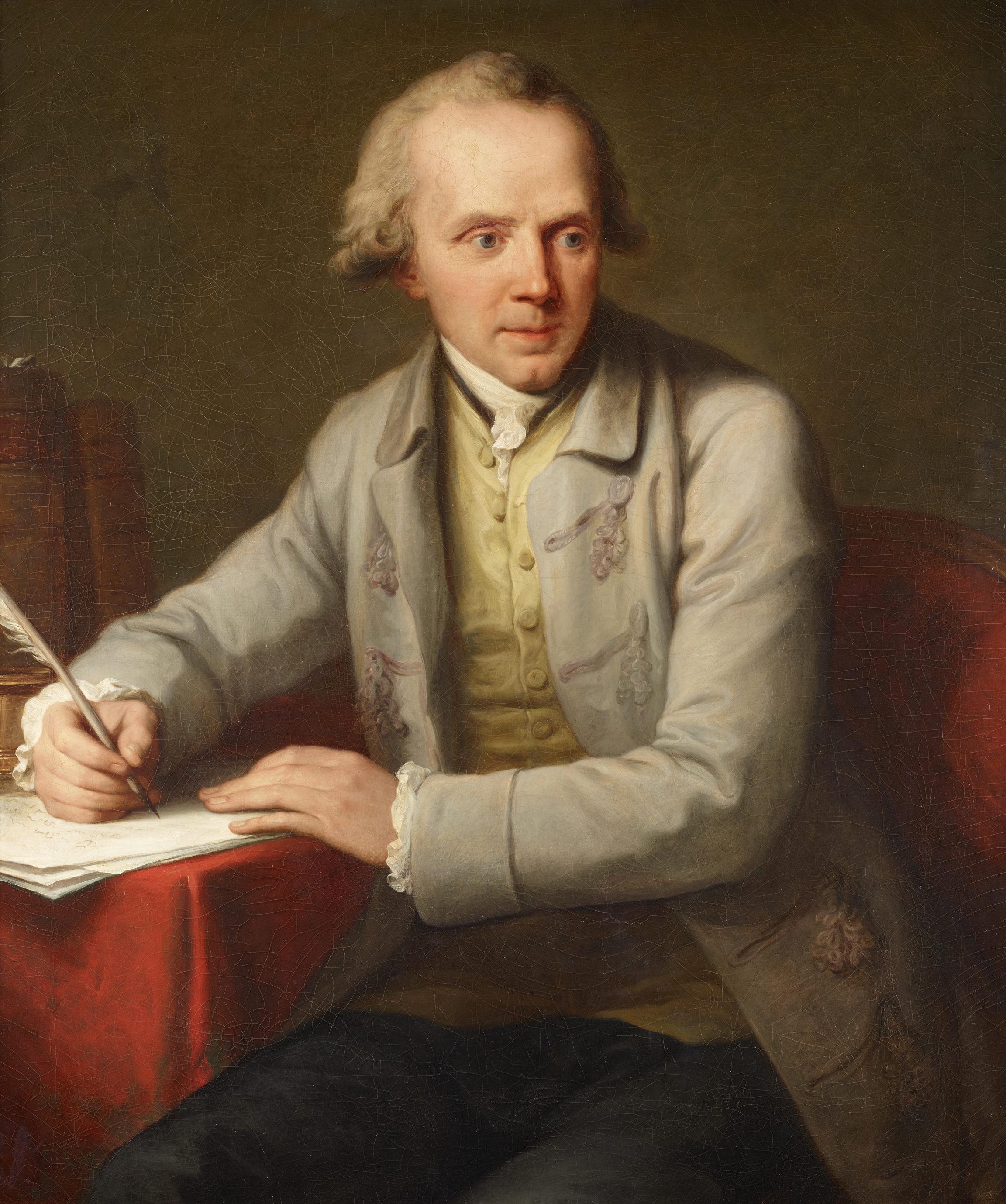 Angelika Kauffmann , Portrait du docteur Auguste Tissot, 1783