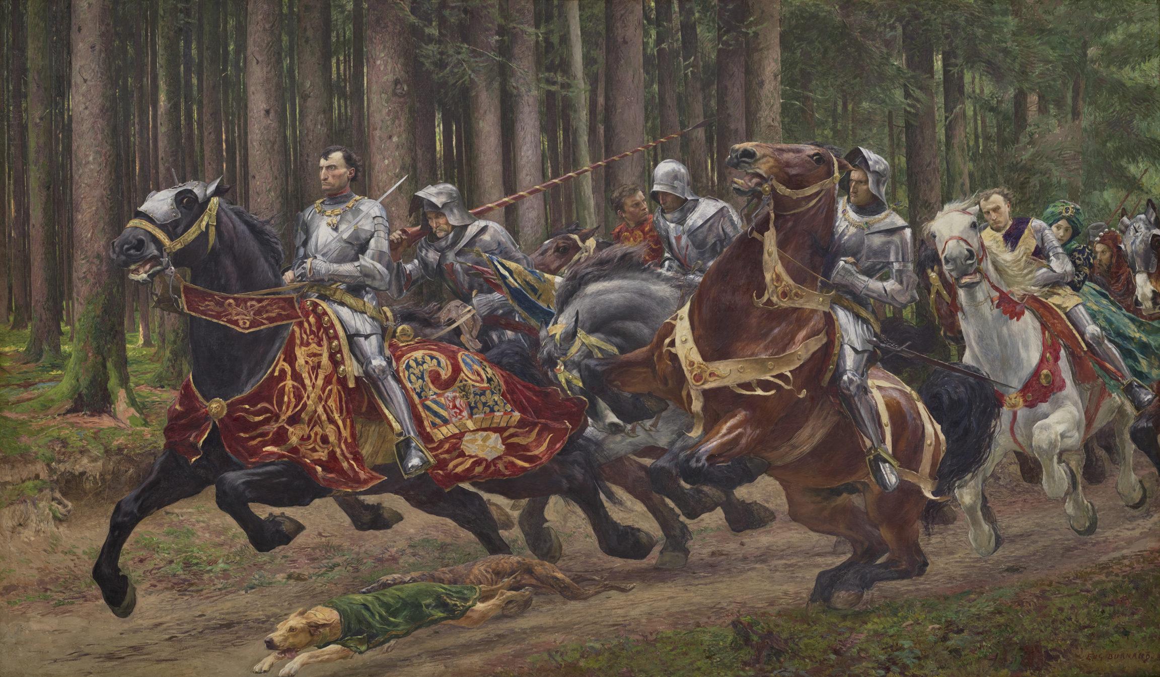 Eugène Burnand, La fuite de Charles le Téméraire, 1894-1895