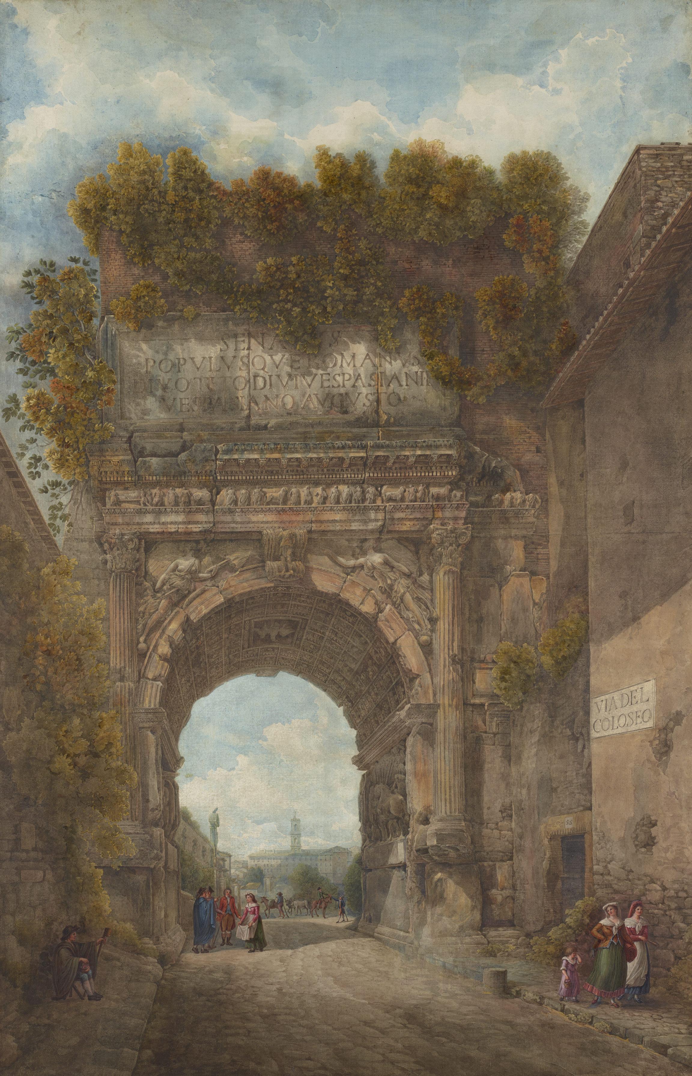 Louis Ducros, L'arc de Titus, entre 1782 et 1787