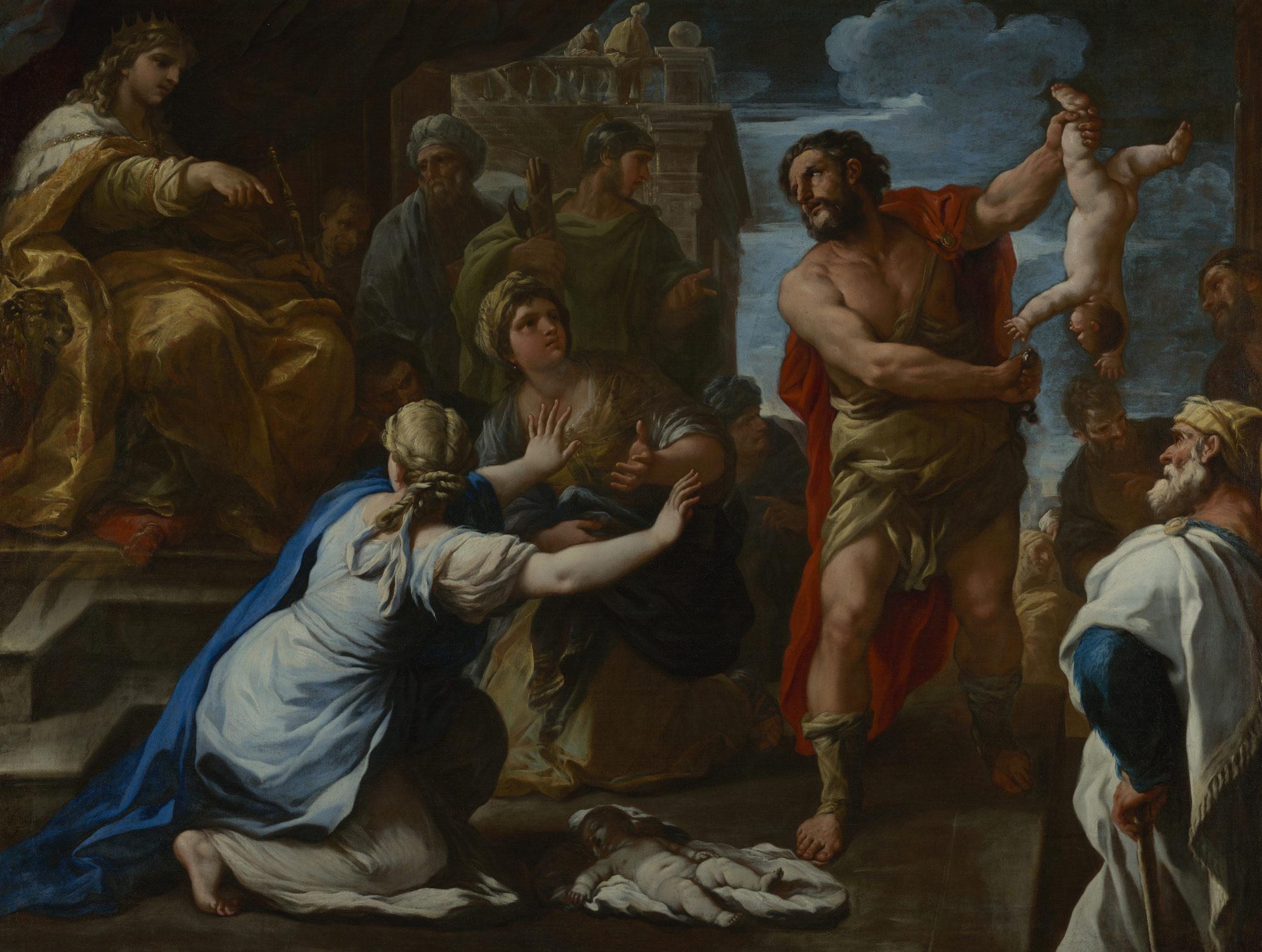 Luca Giordano , Le jugement de Salomon (The Judgement of Solomon), c. 1670–85