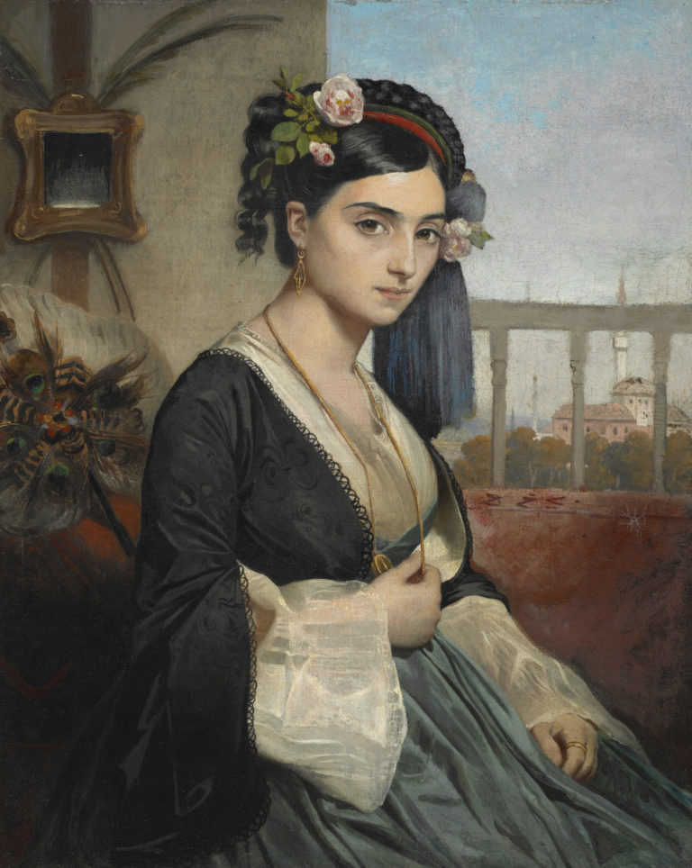 Charles Gleyre, Femme turque (Dudo Narikos), 1840