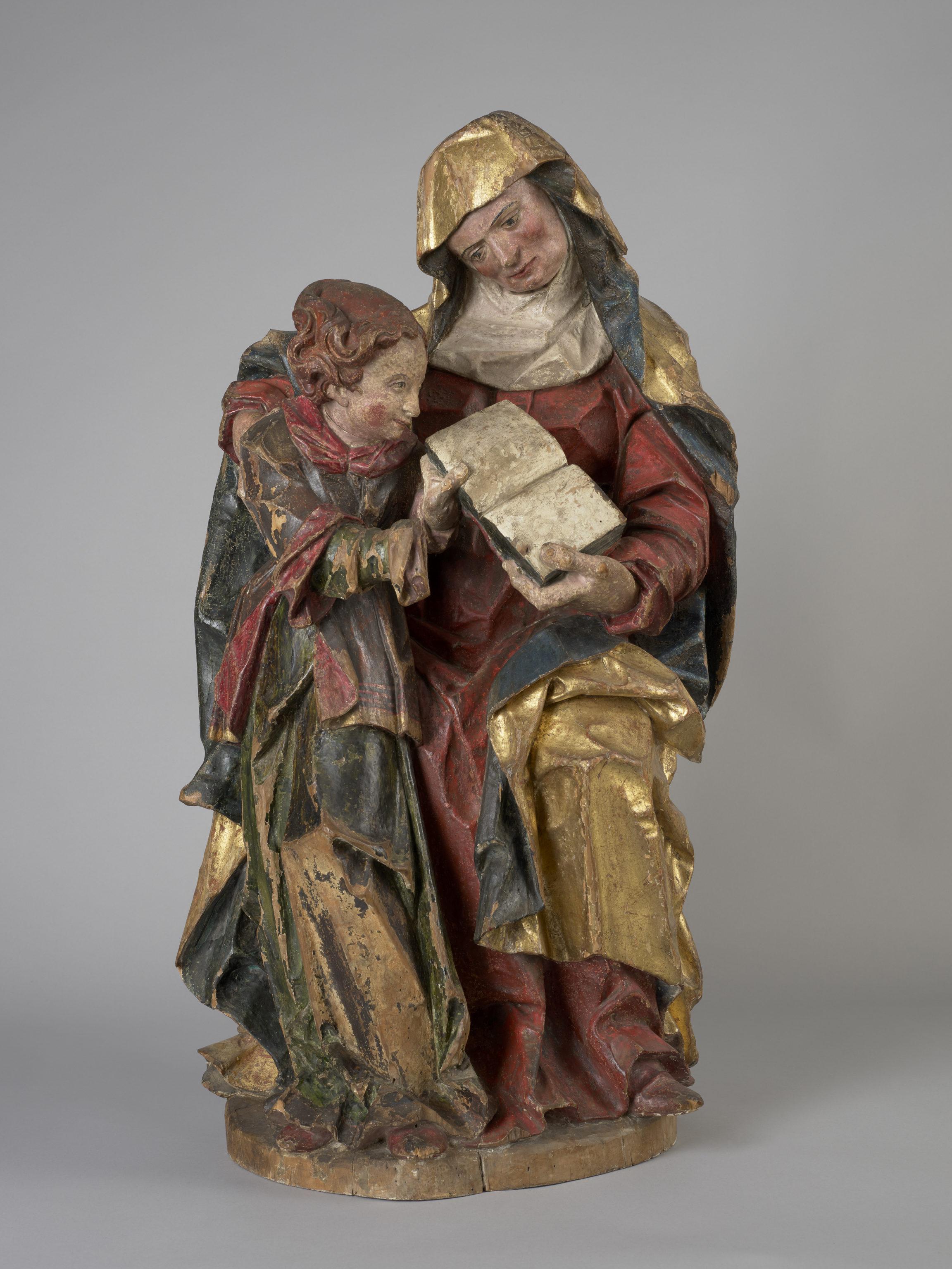 Inconnu [Suisse occidentale], Sainte Anne enseignant la Vierge, vers 1550-1580
