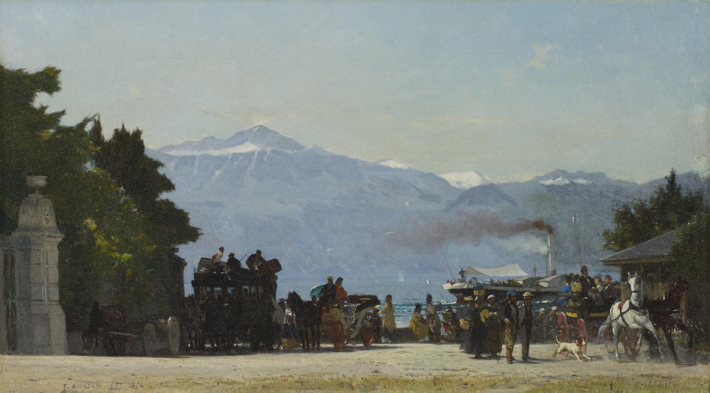 François Bocion, À Ouchy en 1874, 1874