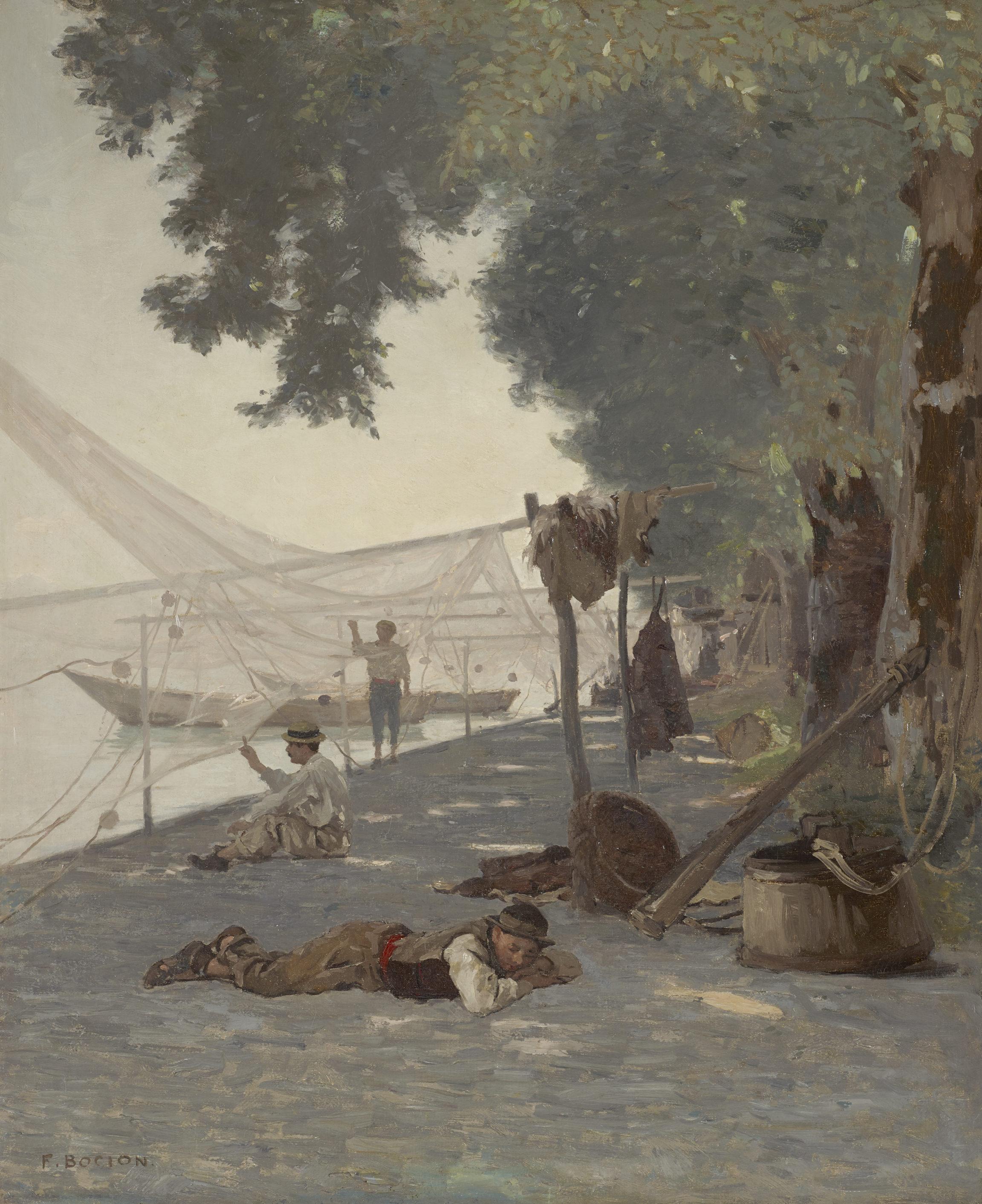 François Bocion, Filets et pêcheurs, vers 1877