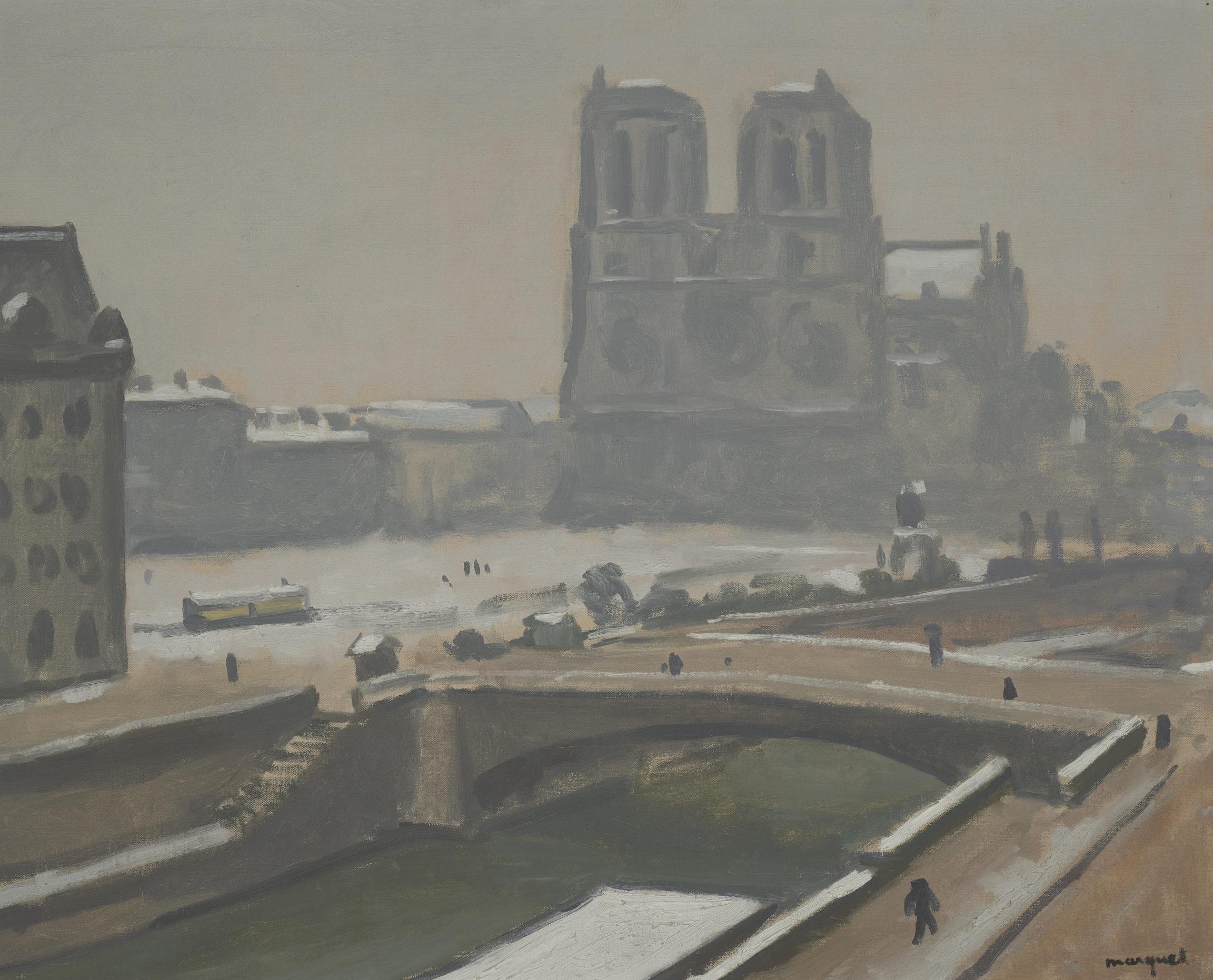 Albert Marquet, Notre-Dame, temps de neige, vers 1914