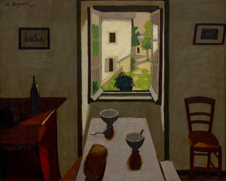 Marius Borgeaud , La table et les deux bols, 1922
