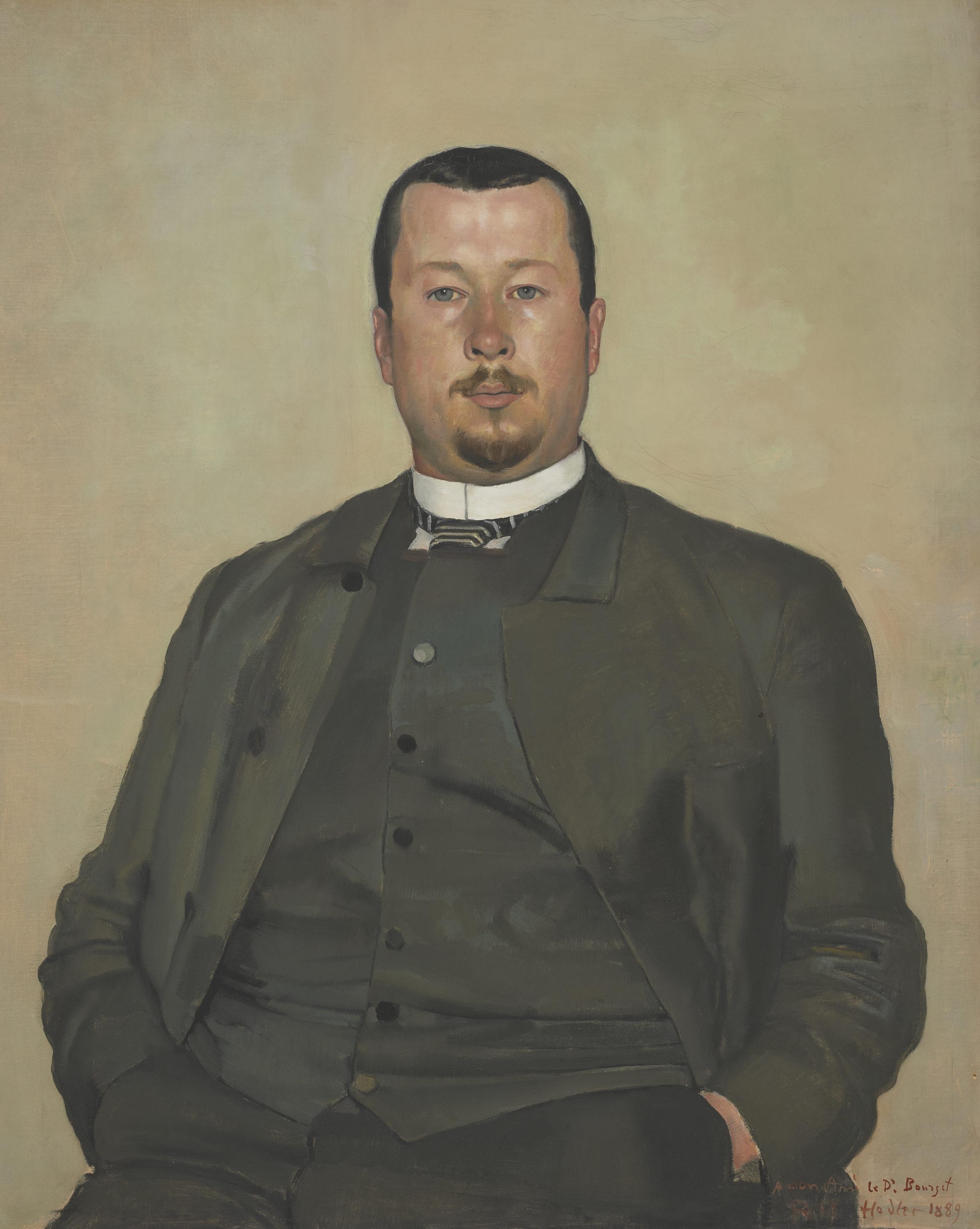 Ferdinand Hodler, Portrait du Dr Louis Bourget, 1889