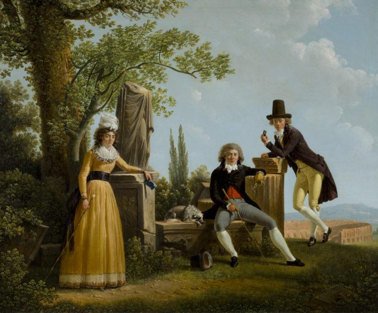Jacques Sablet, Portrait de famille avec le Colisée, 1791